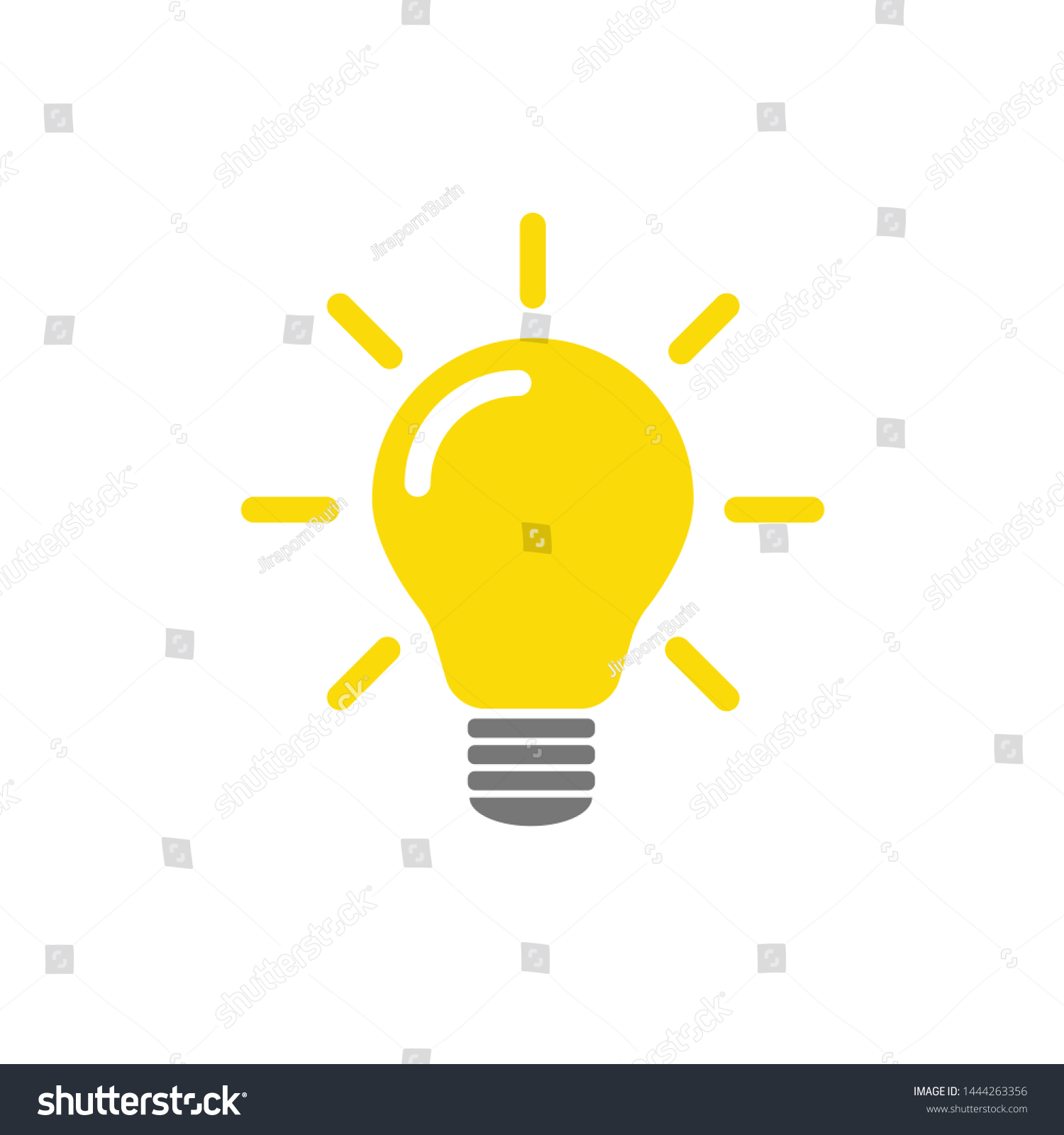 The light bulb is full of ideas And creative thinking, analytical thinking for processing. Light bulb icon vector. ideas symbol illustration. #1444263356