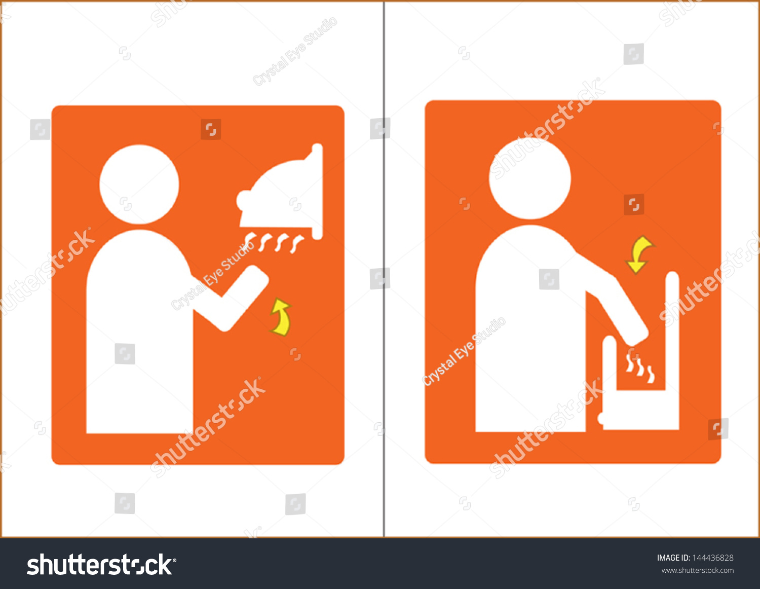 Air Dryer Vector Symbol Washrooms 2 Stock Vector Royalty Free