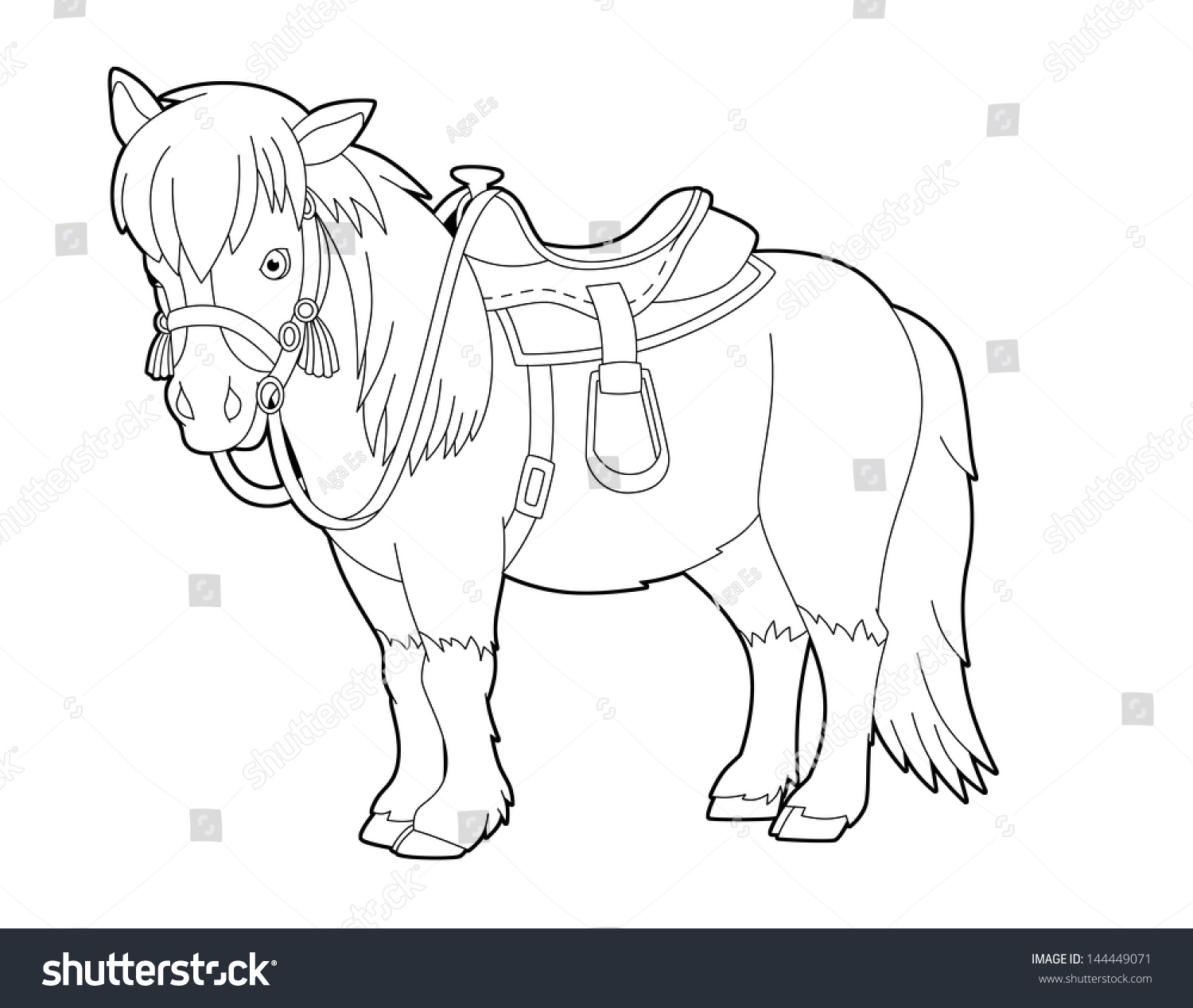 coloring page wild west western template stock illustration