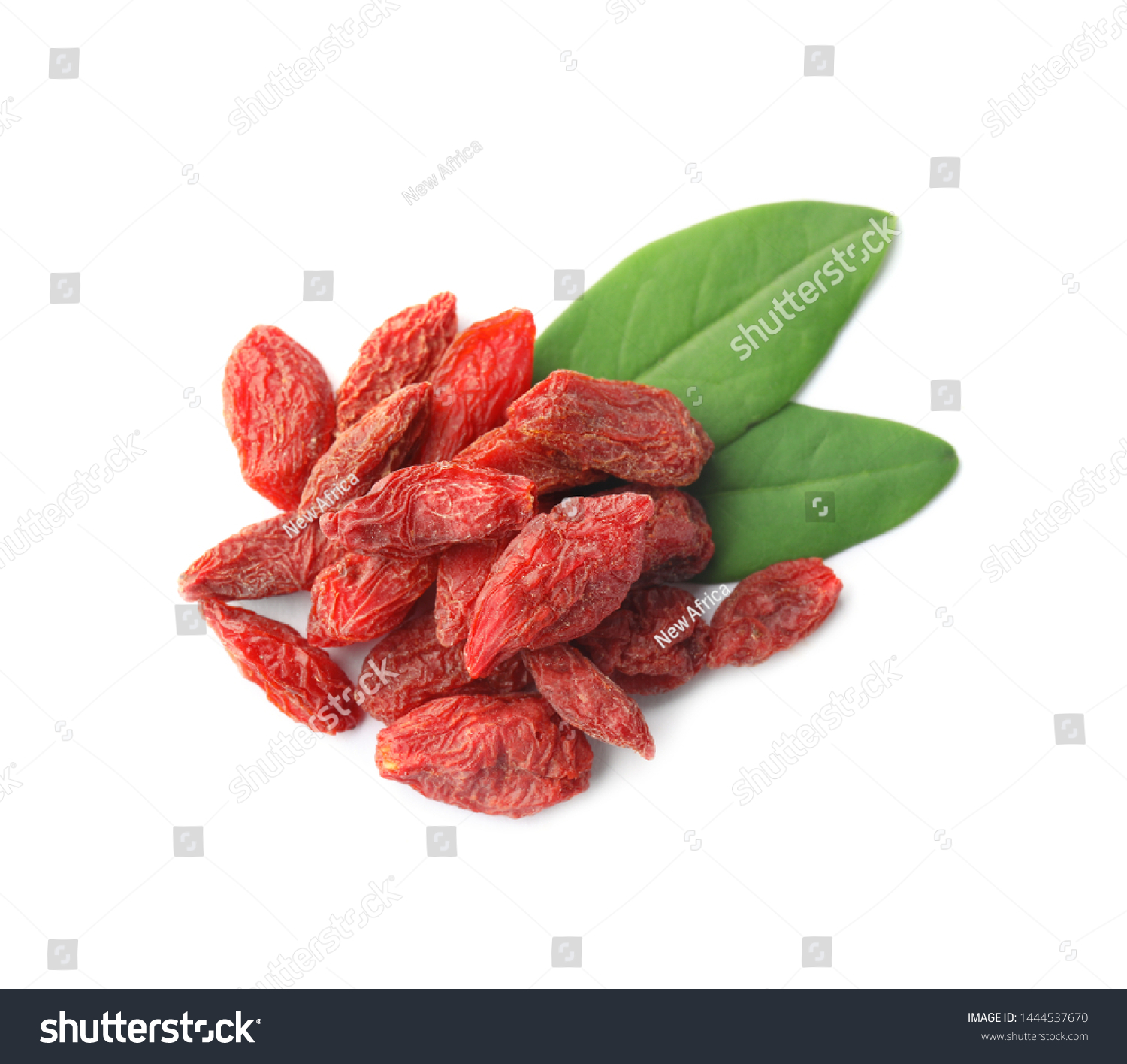Pile Dried Goji Berries Leaves On Stock Photo Edit Now 1444537670