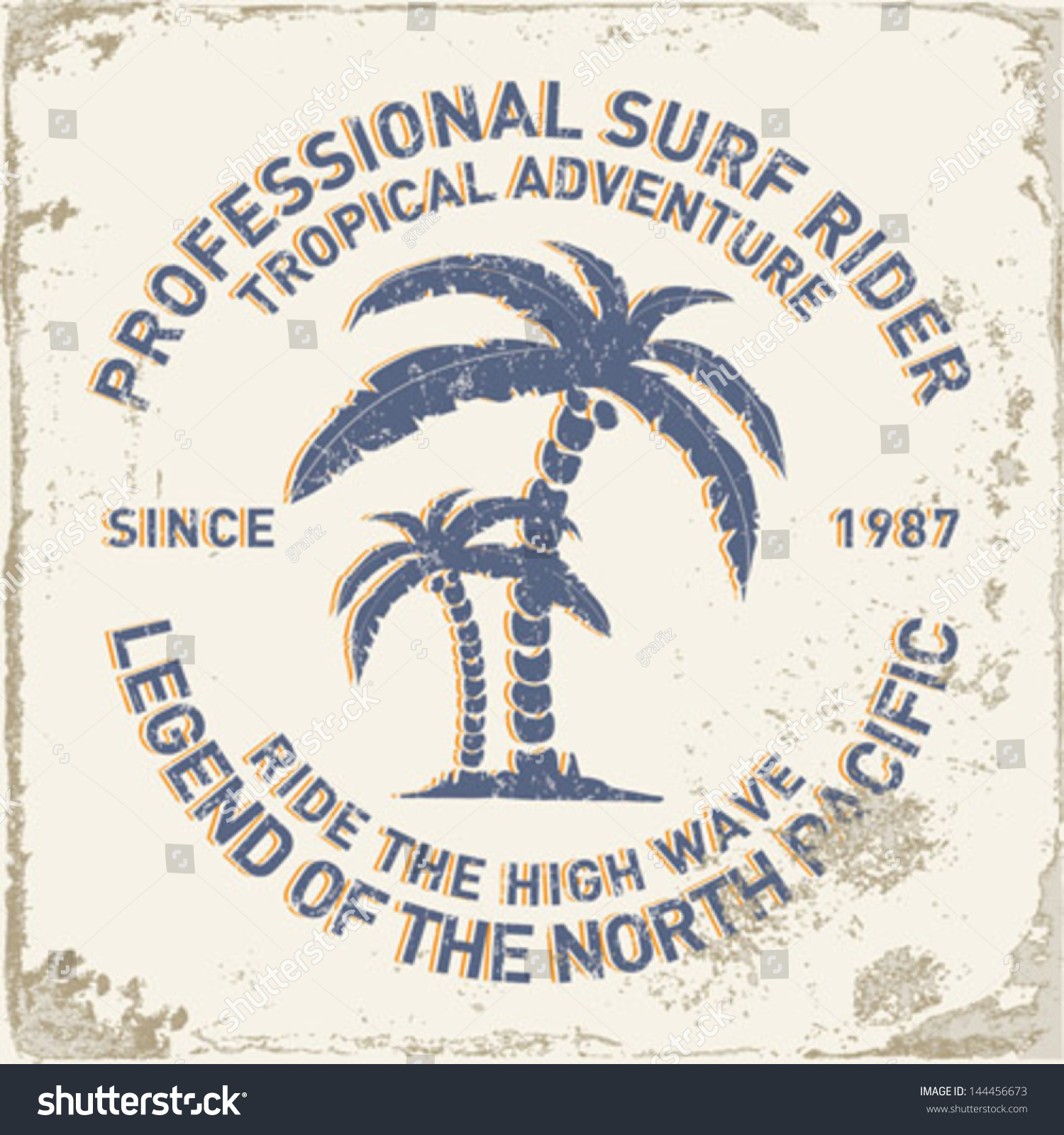 Shirt design vector pack - Set Of Summer Surfing Design Tropical Vector Set Hand Drawing Silhouette T