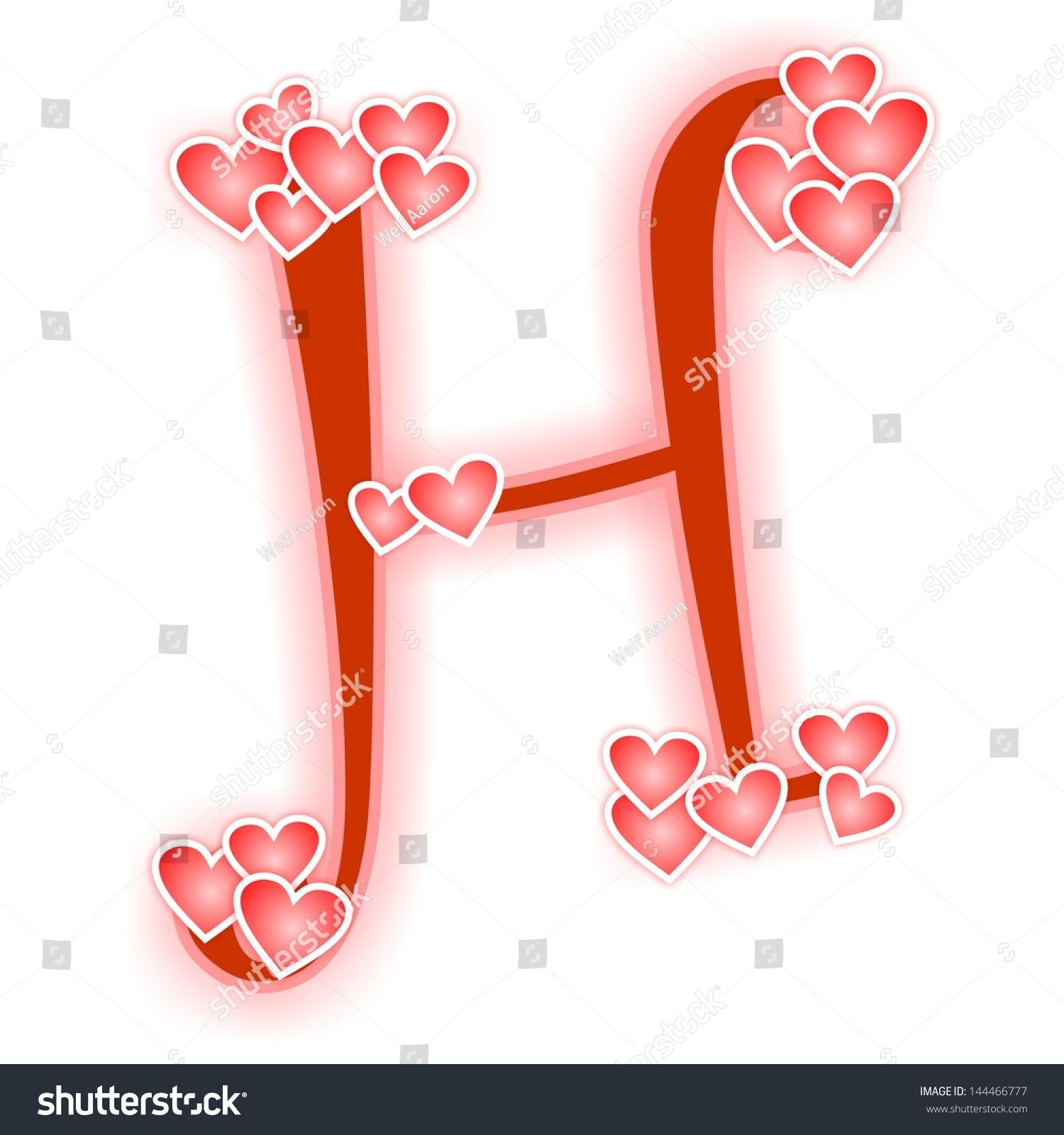 H Letter In Love Love Letter Alphabet H...