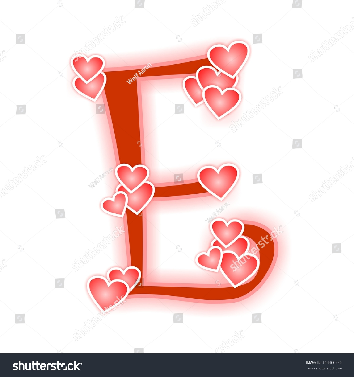 Love Letter Alphabet E Stock Illustration 144466786 ...