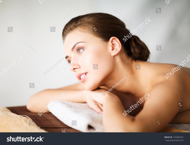 beauty spa concept woman spa salon stock photo 144487522 shutterstock. Black Bedroom Furniture Sets. Home Design Ideas