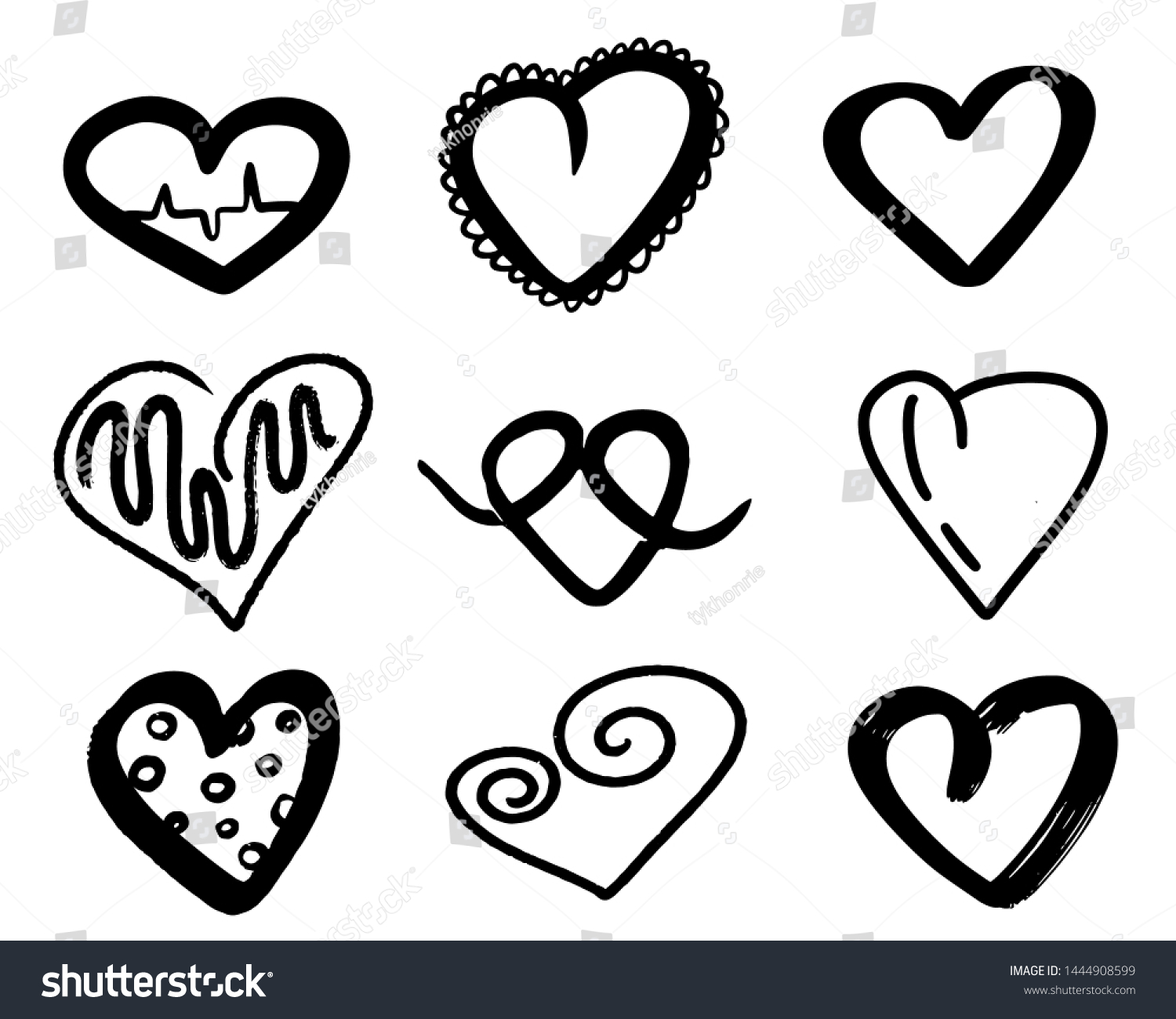 stock-photo-black-hearts-collection-hand