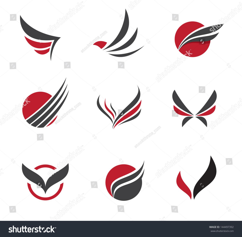 Black wing logo symbol professional designer stock vector black wing logo symbol for a professional designer biocorpaavc