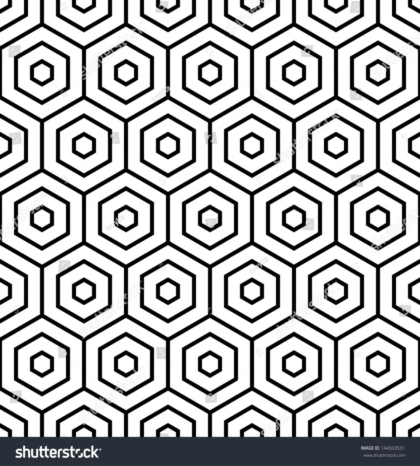 Hexagons Texture Seamless Geometric Pattern Vector Stock Vector ...