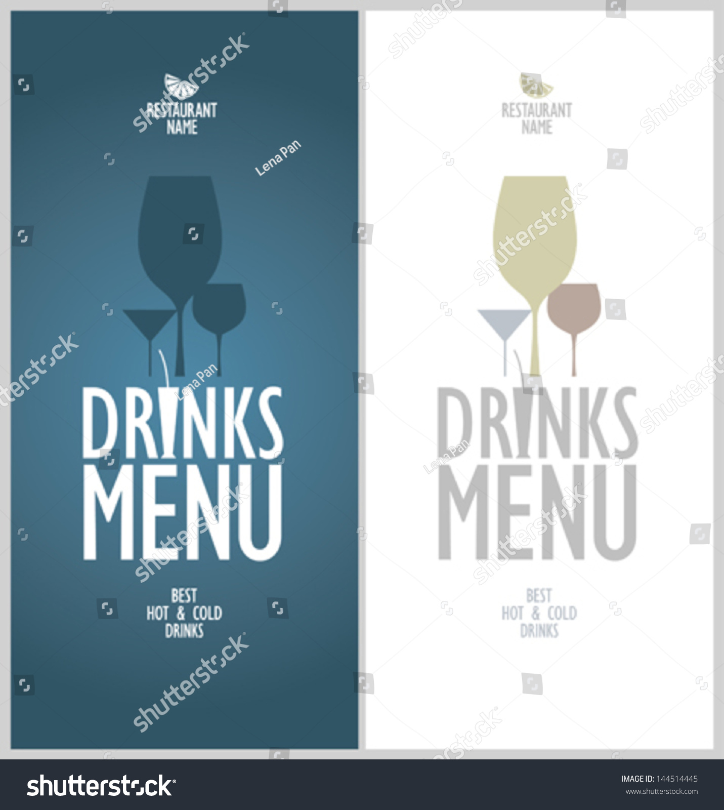 Drinks Menu Cards Design Template Vector 144514445 – Drinks Menu Template