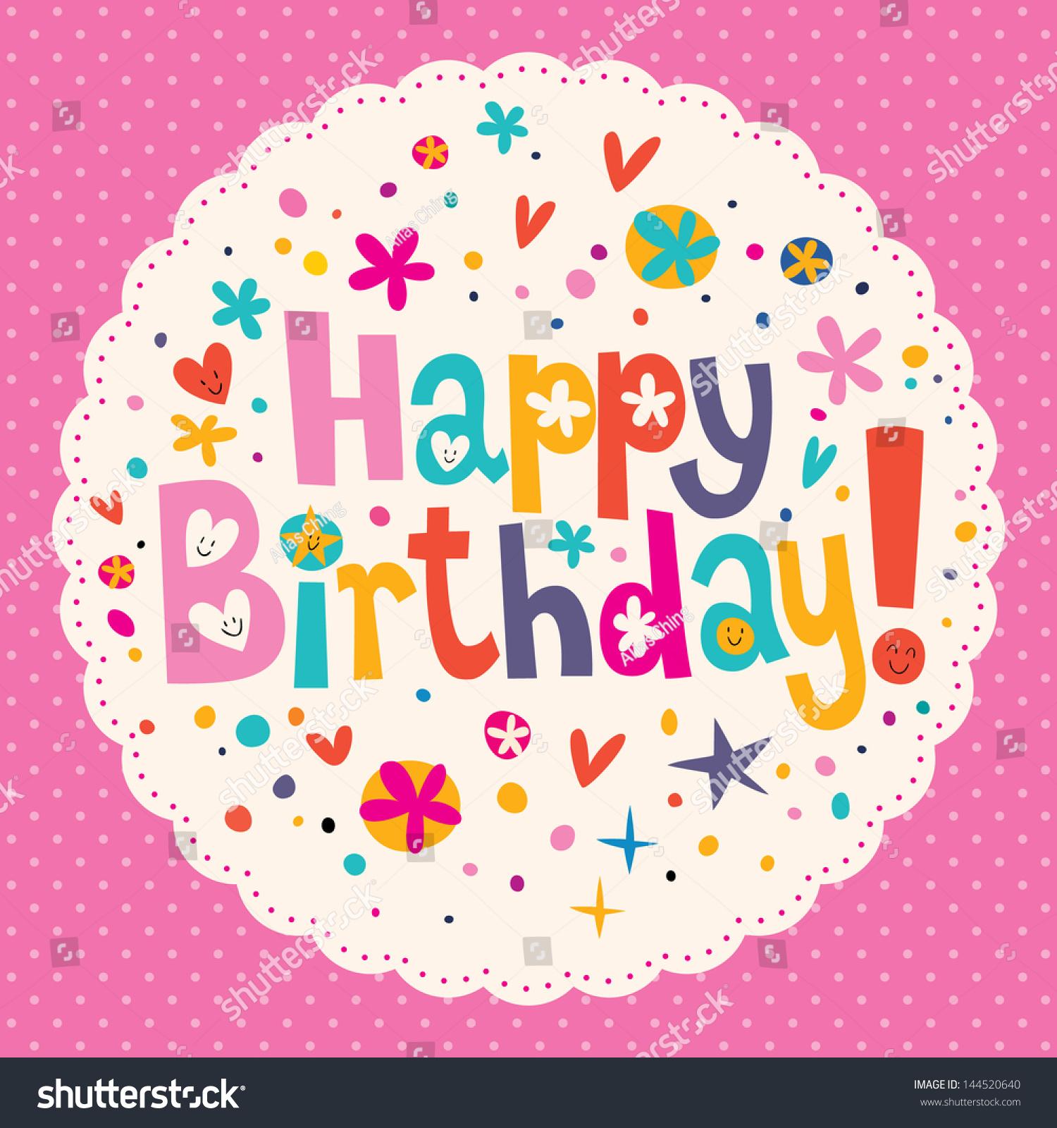 Happy Birthday Stock Vector 144520640 - Shutterstock