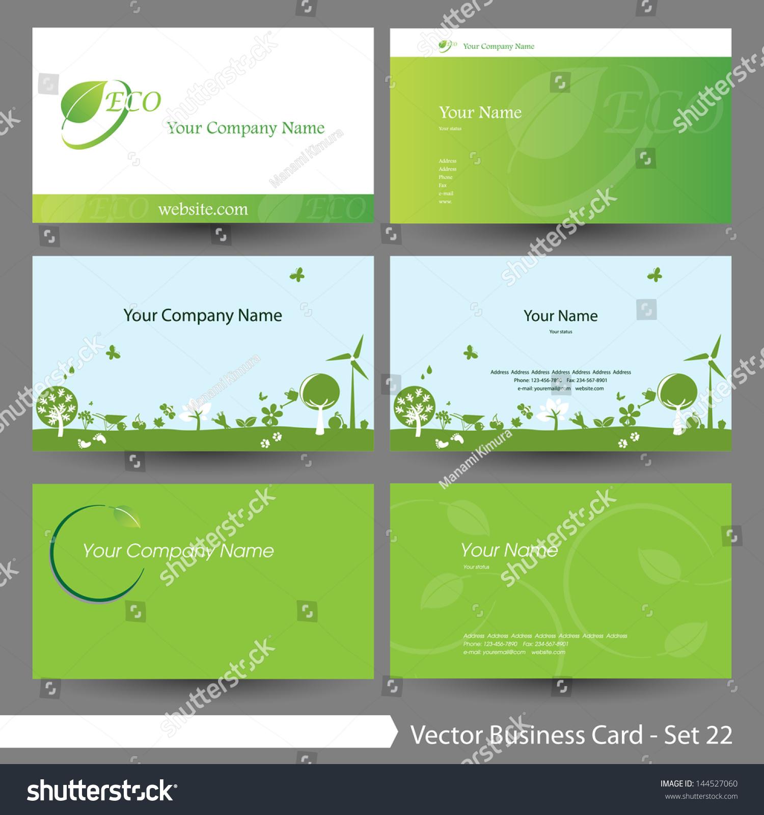 Vector illustration business card template set stock vector vector illustration business card template set environment tree theme business card template magicingreecefo Choice Image