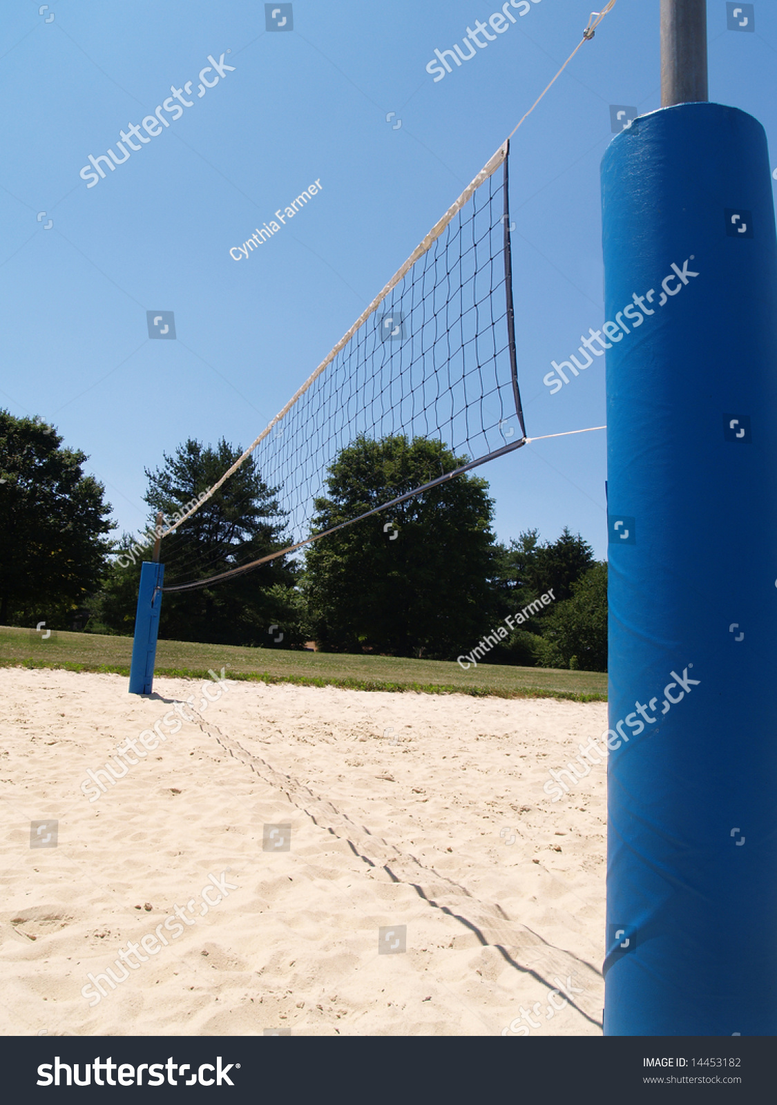 Sideview Outdoor Sand Volleyball Court Stock Photo Edit Now 14453182