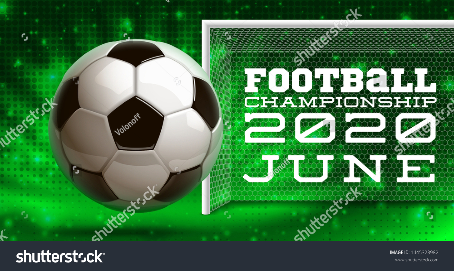 Football Modern Sports Poster Cup Design Stock Vector Royalty Free 1445323982