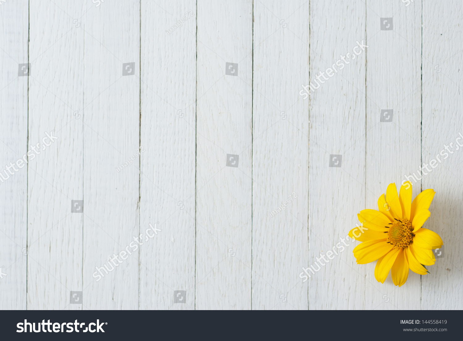 Wood table background hd - Summer Flower On Wooden Table Background