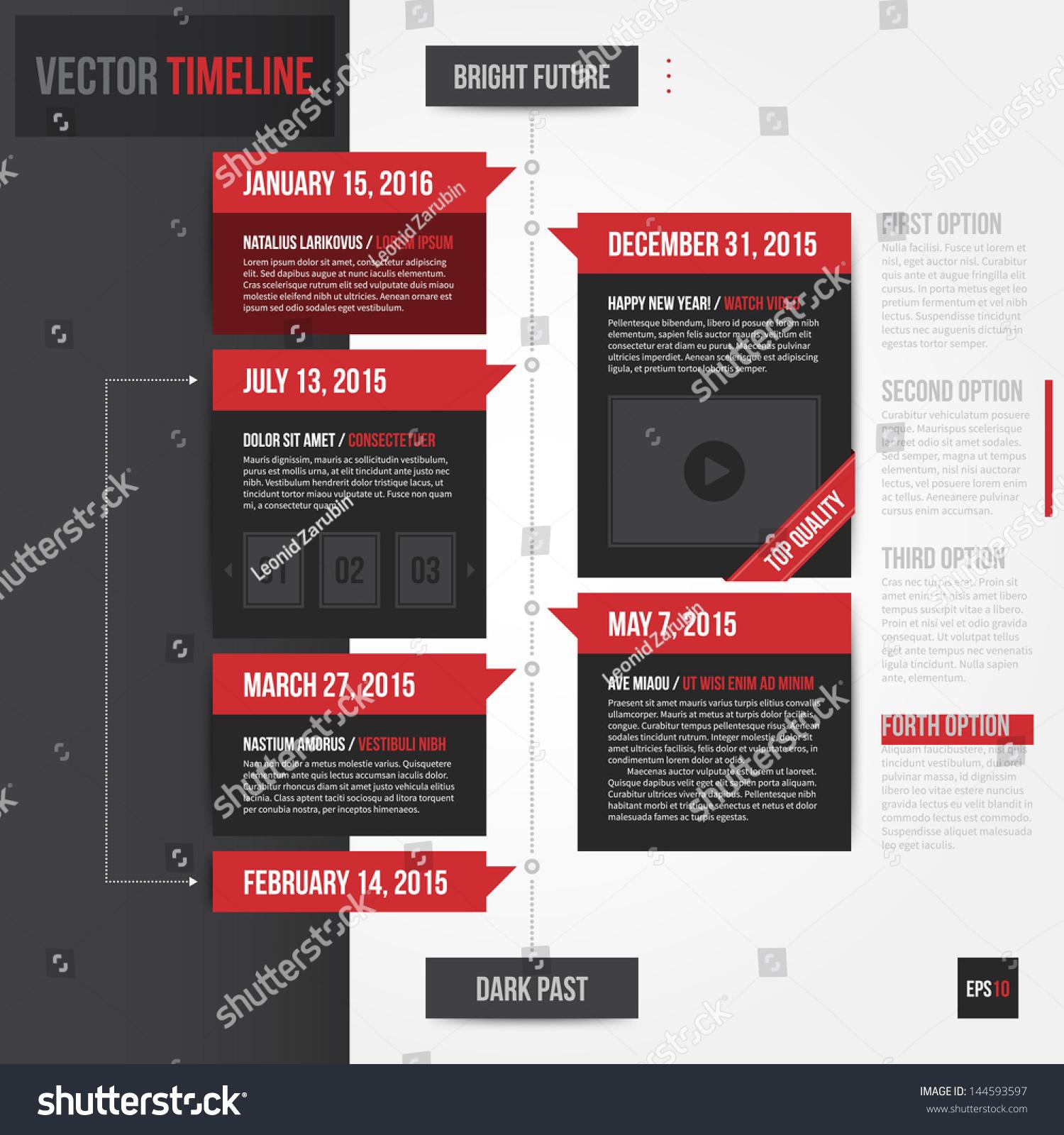 Vertical Timeline Template Eps10 Stock Vector 144593597 - Shutterstock