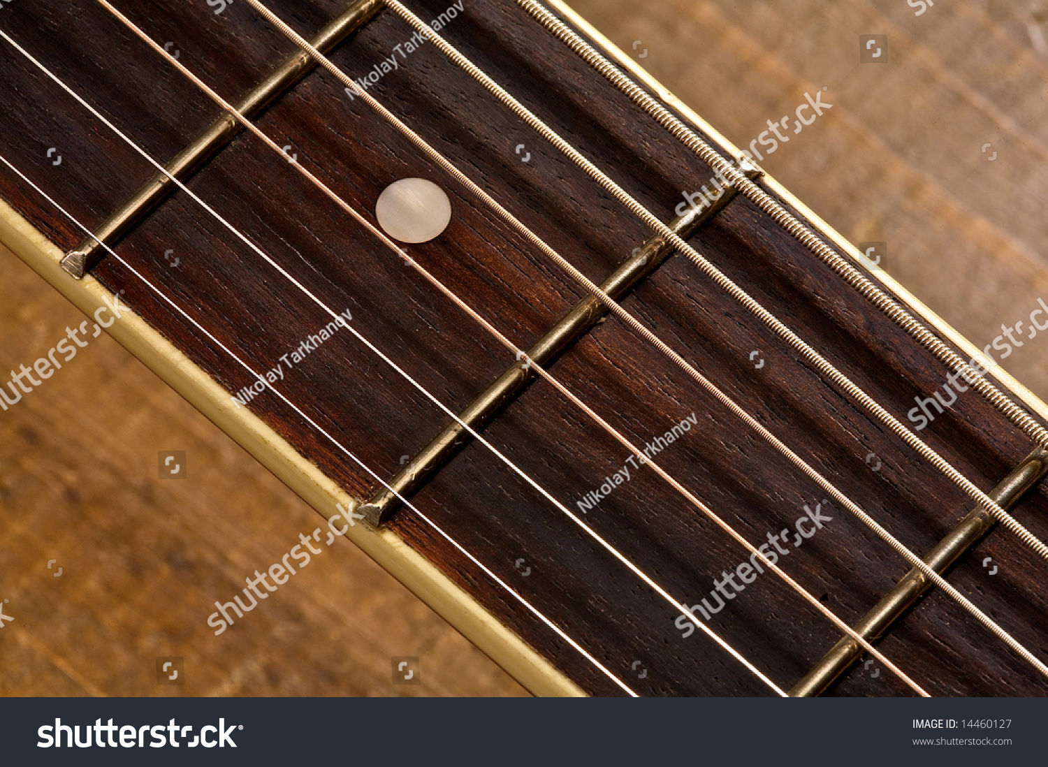 strings of a guitar close up stock photo 14460127 shutterstock. Black Bedroom Furniture Sets. Home Design Ideas