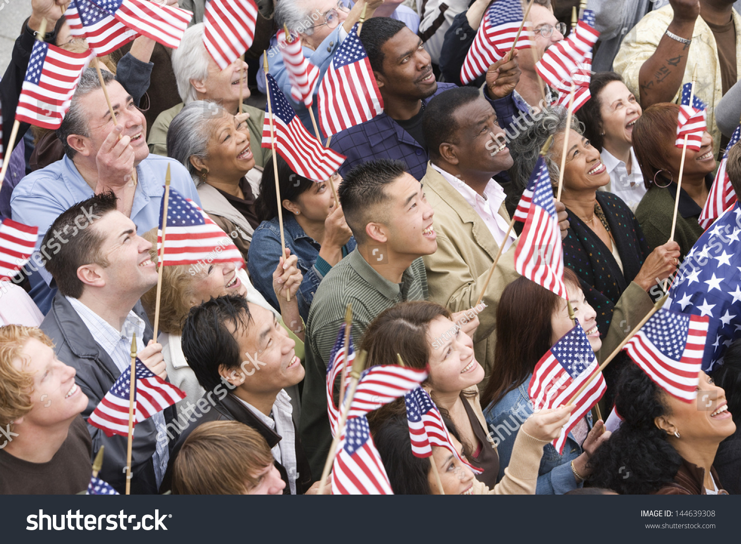flag american holding happy ethnic multi angle shutterstock