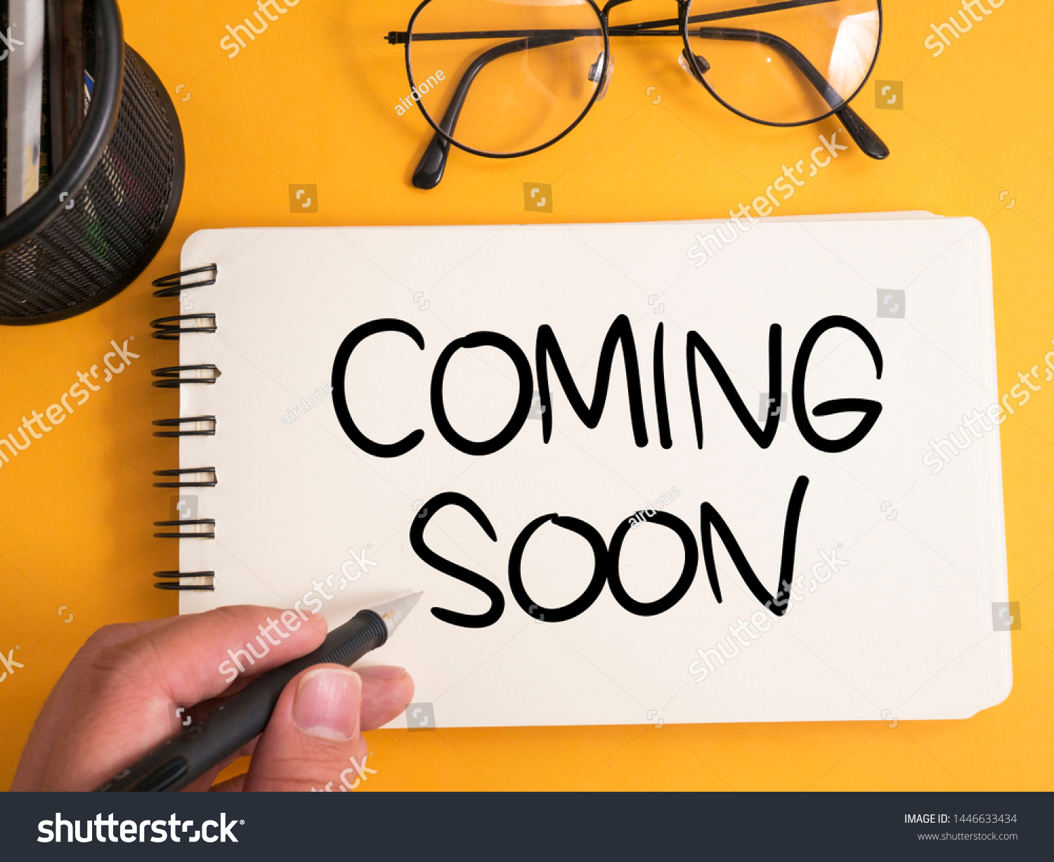 Coming Soon Motivational Inspirational Business Marketing Stock Photo Edit Now 1446633434