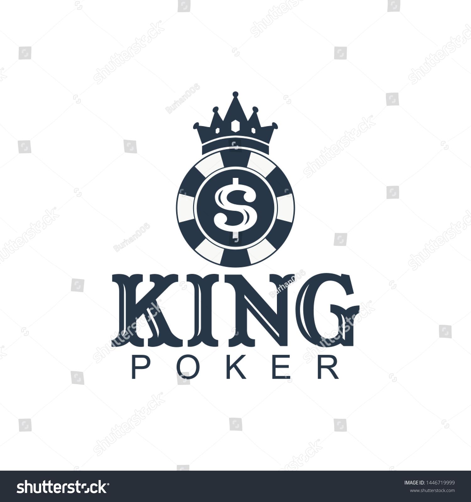King Poker Logo Design Inspiration Stock Vector Royalty Free 1446719999