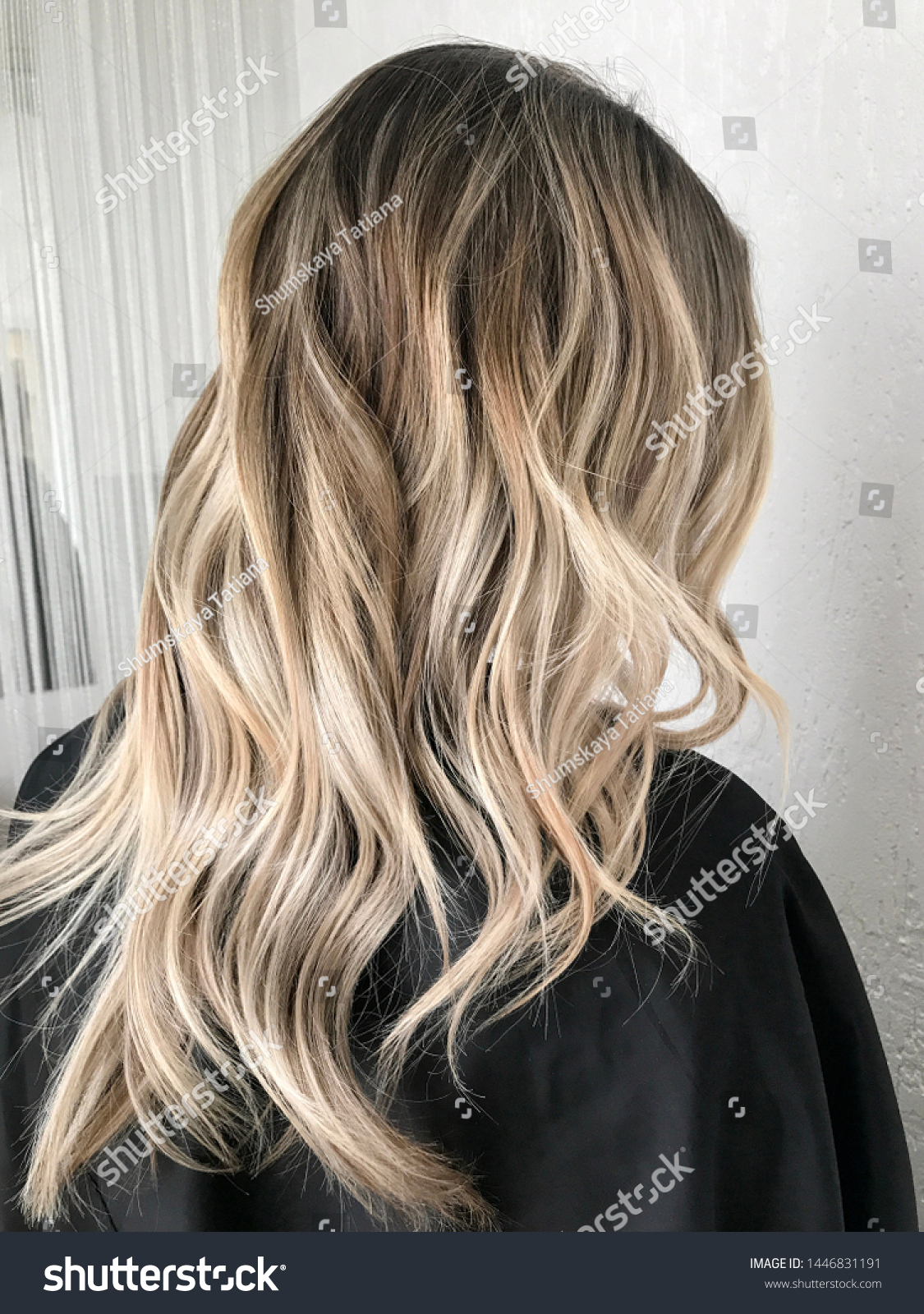 Hairstyle Ombre Color Highlight Hair Stock Photo (Edit Now ...