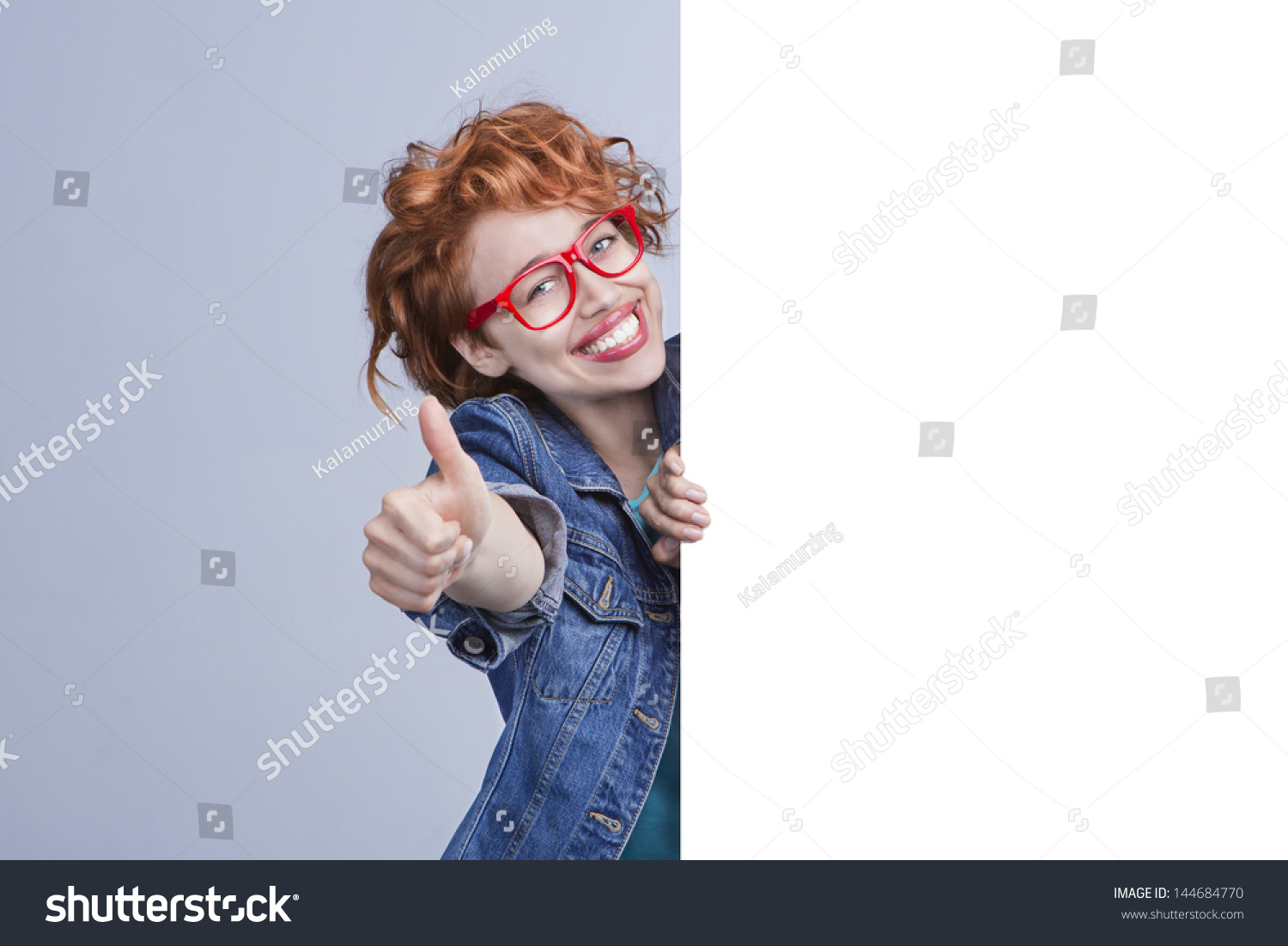 Rimless Glasses More Attractive : Attractive Red-Haired Girl With Red Rimless Glasses And ...