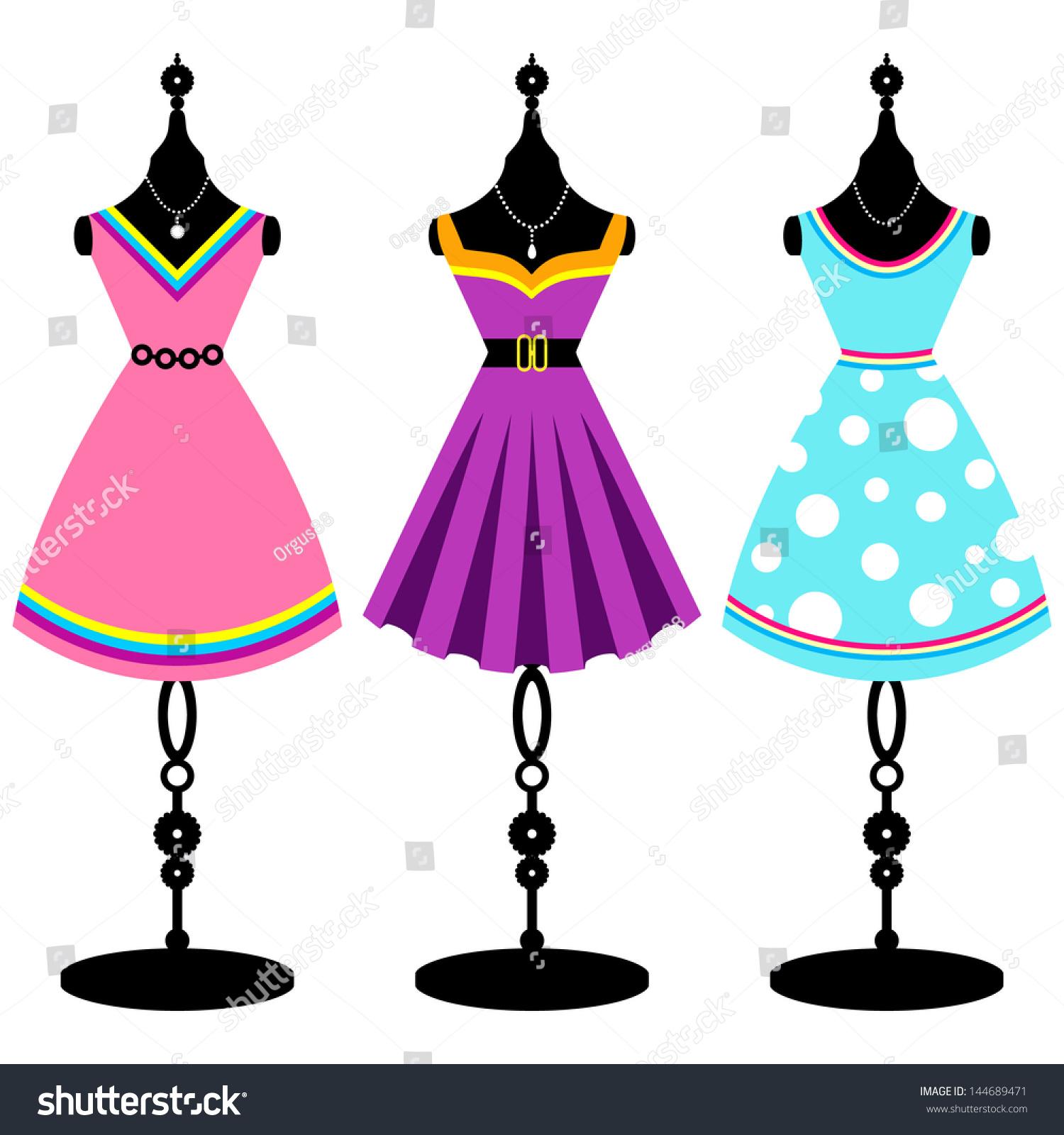 vintage dresses clipart - photo #17