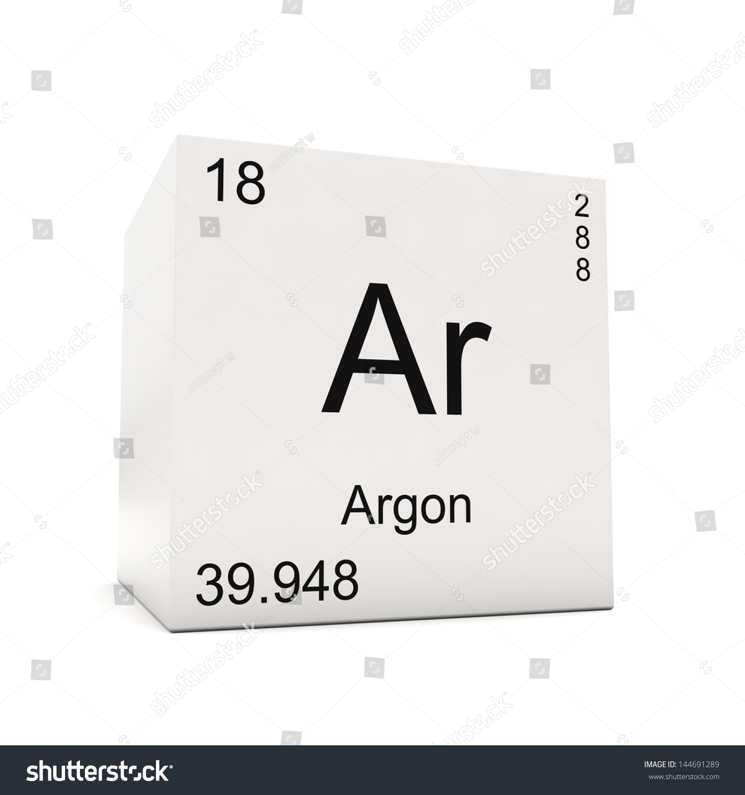 Cube argon element periodic table isolated stock illustration cube of argon element of the periodic table isolated on white background gamestrikefo Choice Image