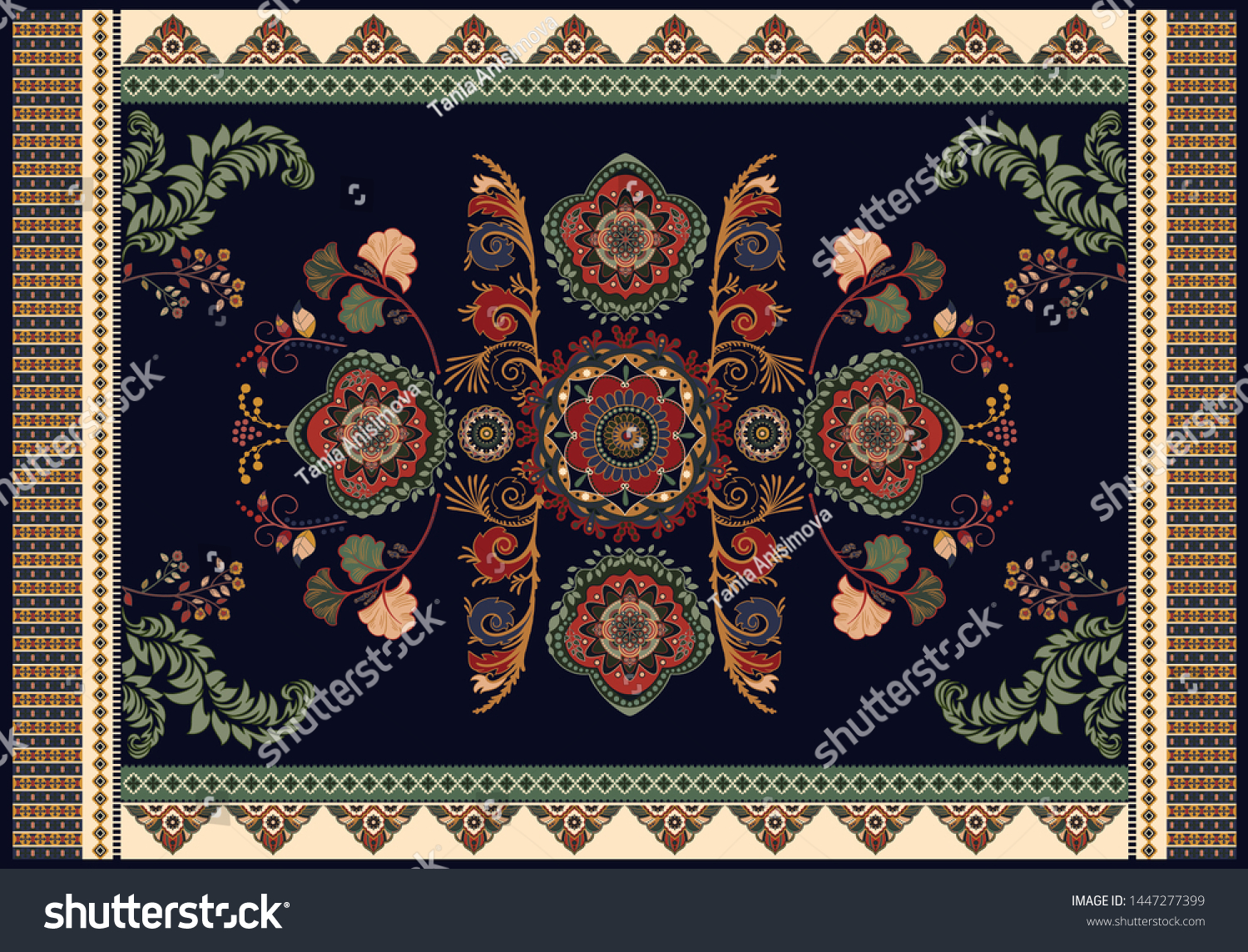 Picture of: Colorful Hungarian Vector Design Rug Towel Stock Vector Royalty Free 1447277399