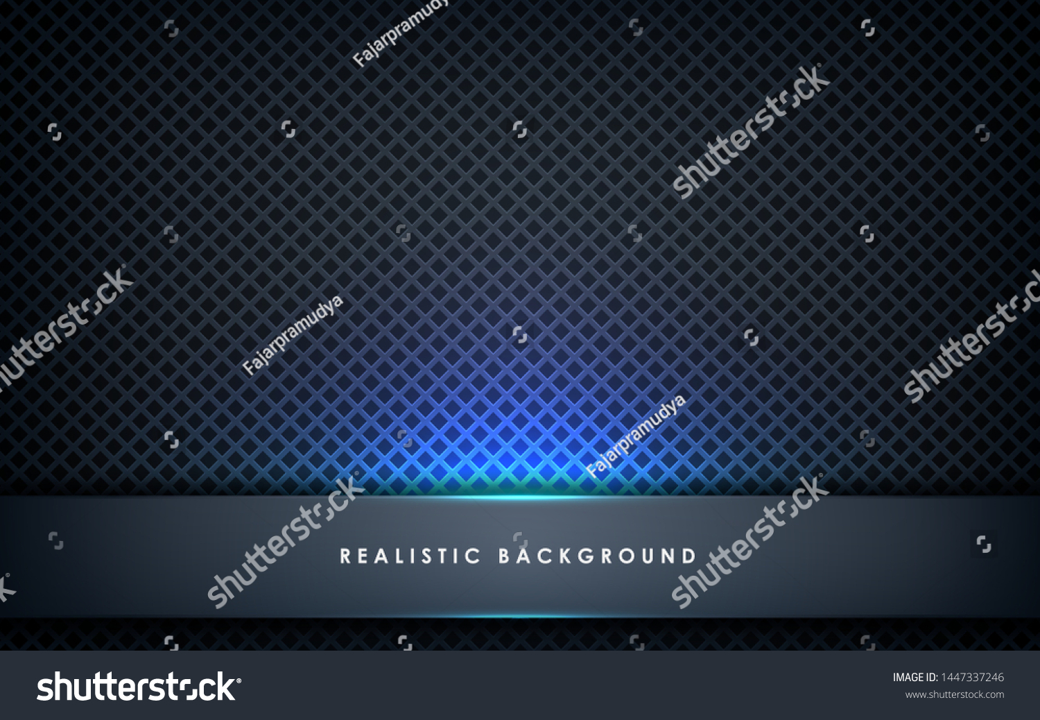 Blue Abstract Dimension On Black Texture Stock Vector