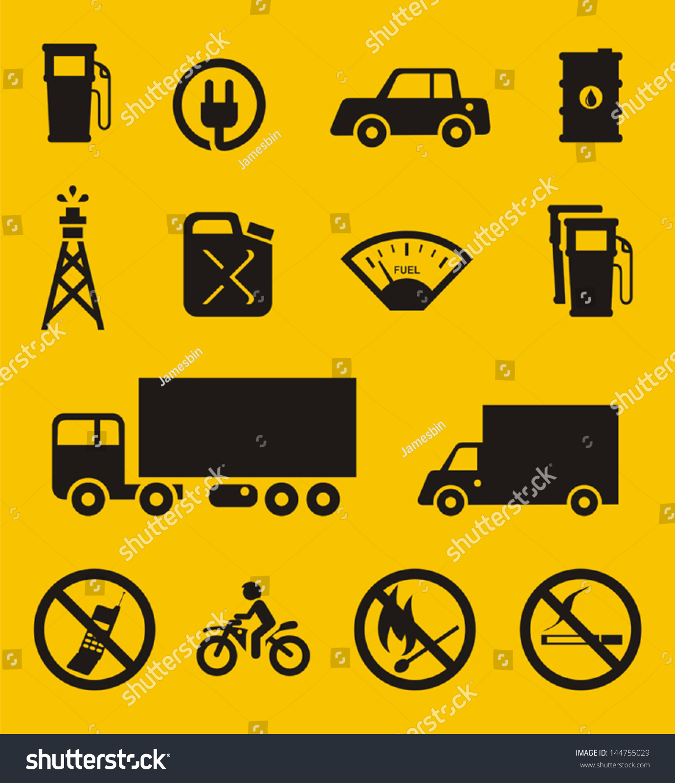 Gas Station Symbols Stock Vector Royalty Free 144755029 Shutterstock