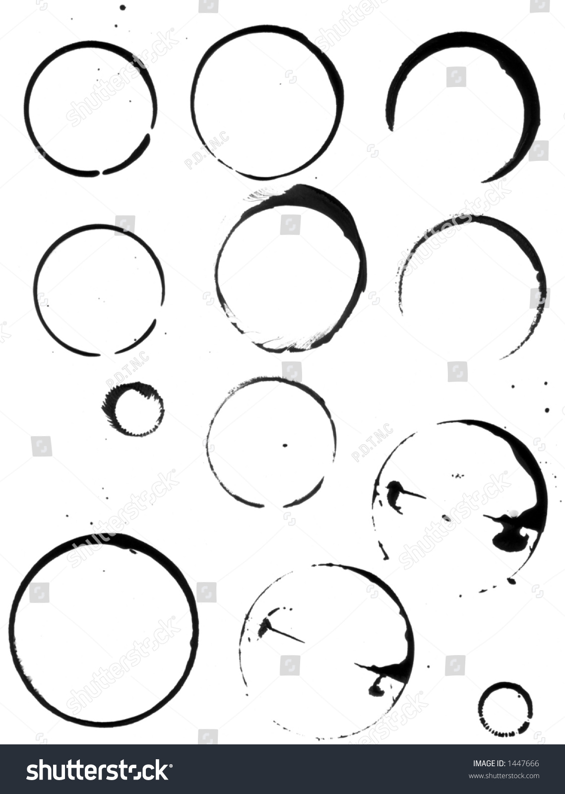 Coffee Cup Stains A Range Of Cups And Other Round Things