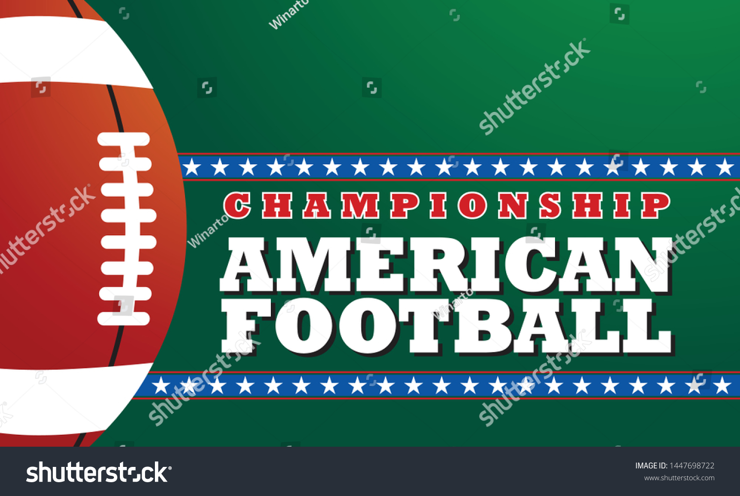 American Football Banner Design Template Design Stock Vector Royalty Free 1447698722
