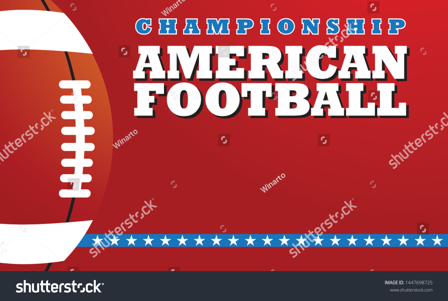 American Football Banner Design Template Design Stock Vector Royalty Free 1447698725