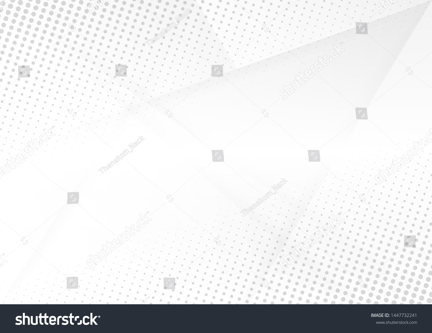 Abstract white and gray gradient background.Halftone dots design background.vector Illustration. #1447732241