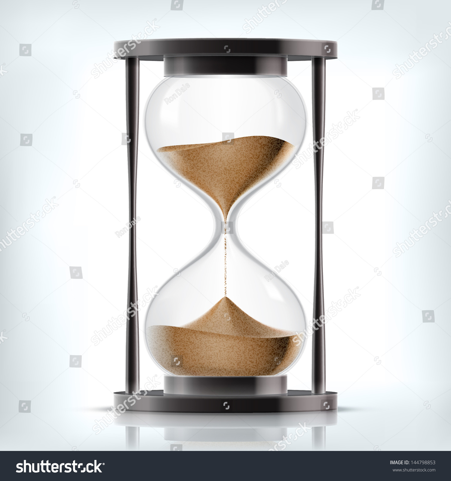 true transparent sand hourglass isolated on stock vector