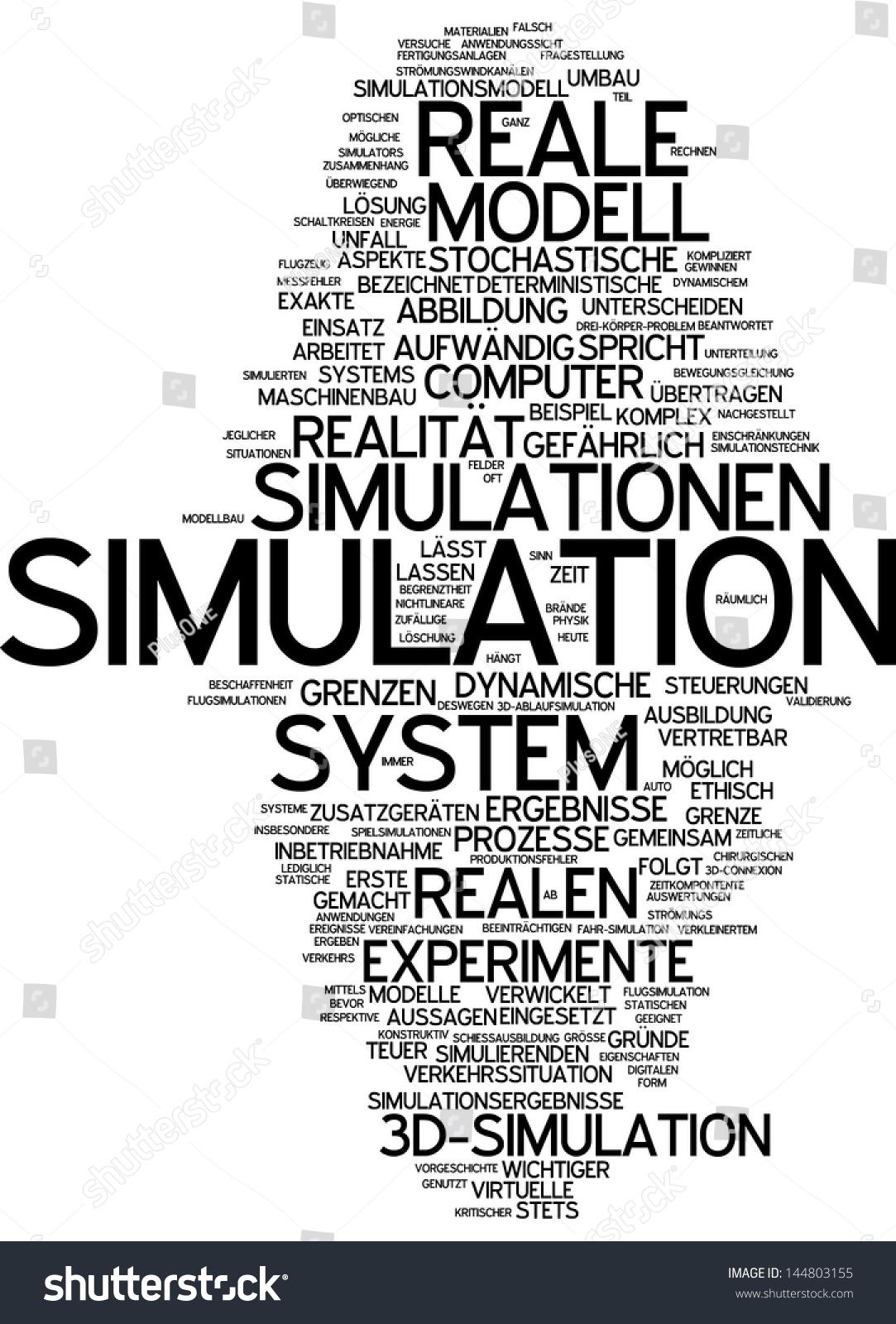 Word Cloud Simulation Stock Illustration 144803155 - Shutterstock