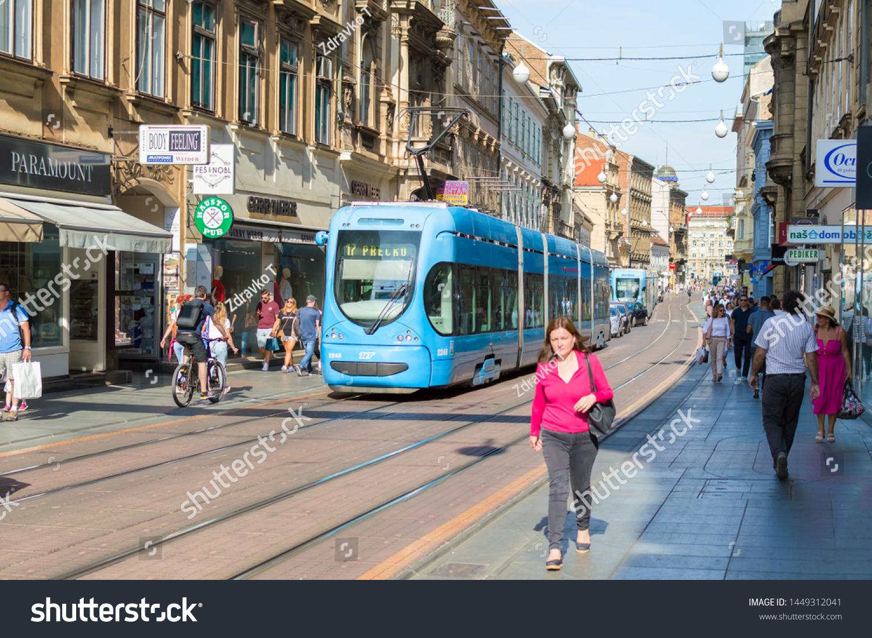 Zagrebcroatia July 11 2019 People Walking Stock Photo Edit Now 1449312041