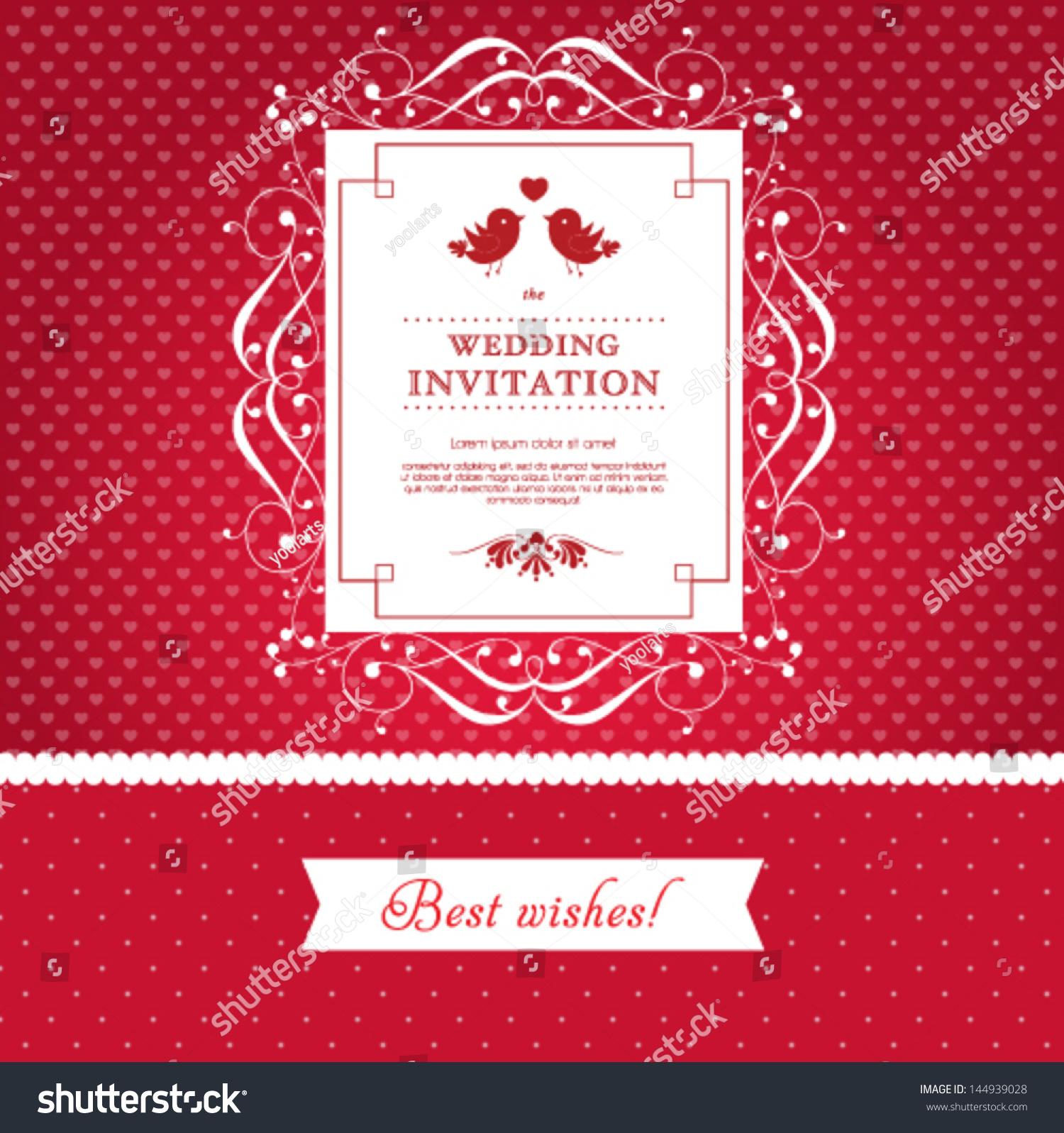 Vector Wedding Card Invitation Floral Ornament Stock Vector ...