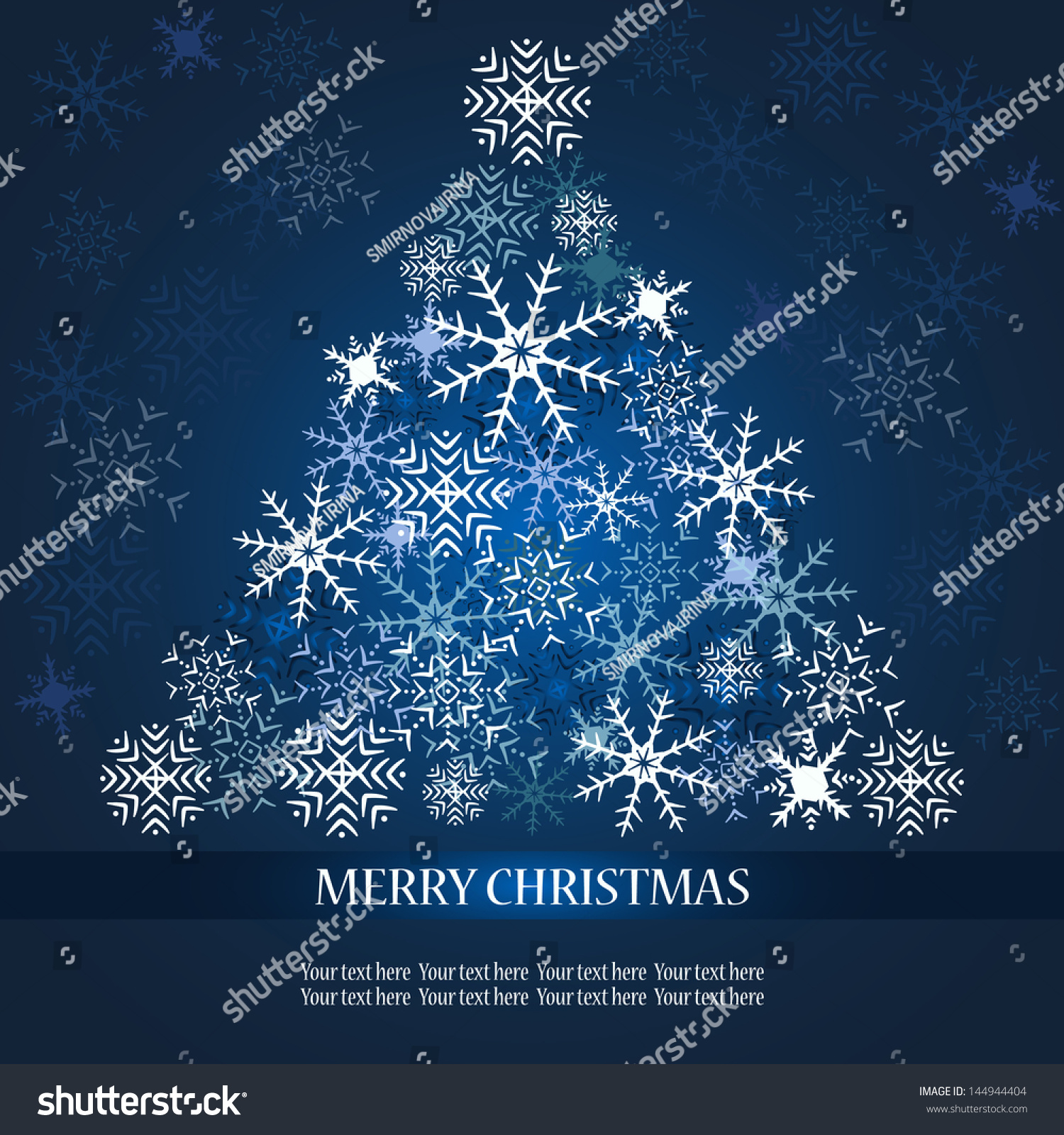 Christmas Tree From Snowflakes Stock Vector Illustration 144944404 Shutterstock