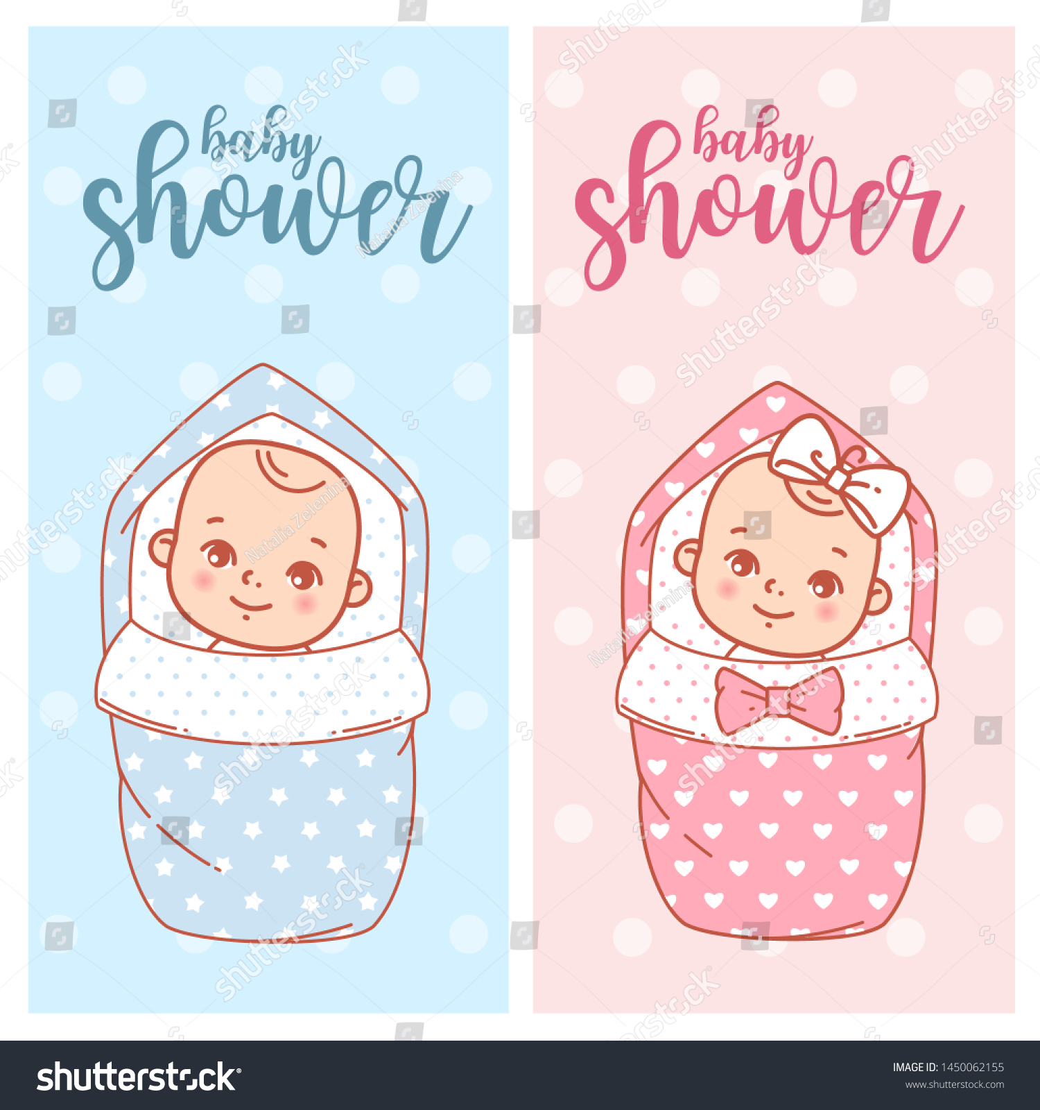 Baby Shower Design Newborn Baby Girl Stock Vector Royalty Free 1450062155