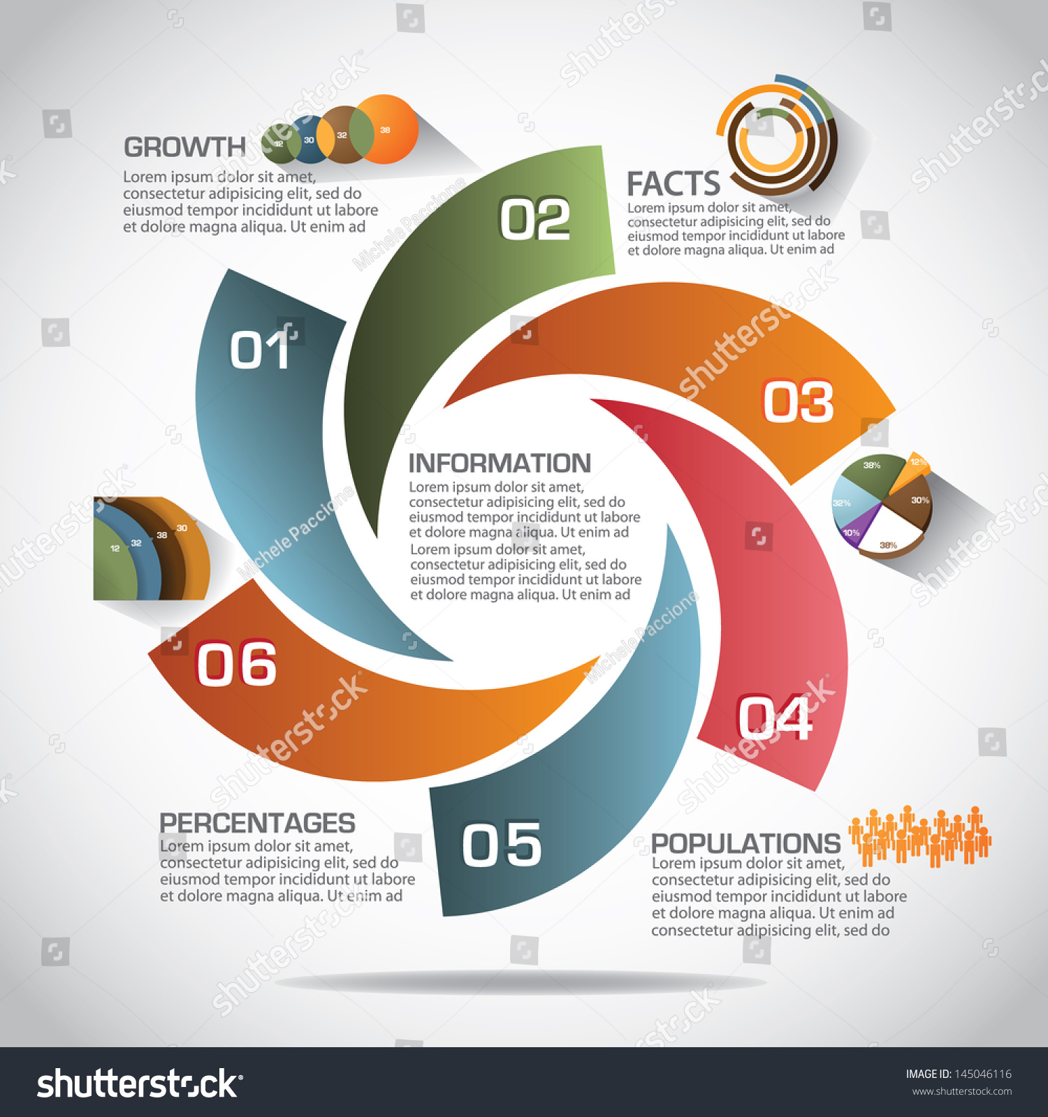 Infographic Template Eps 10 Vector Grouped Stock Vector 145046116 ...