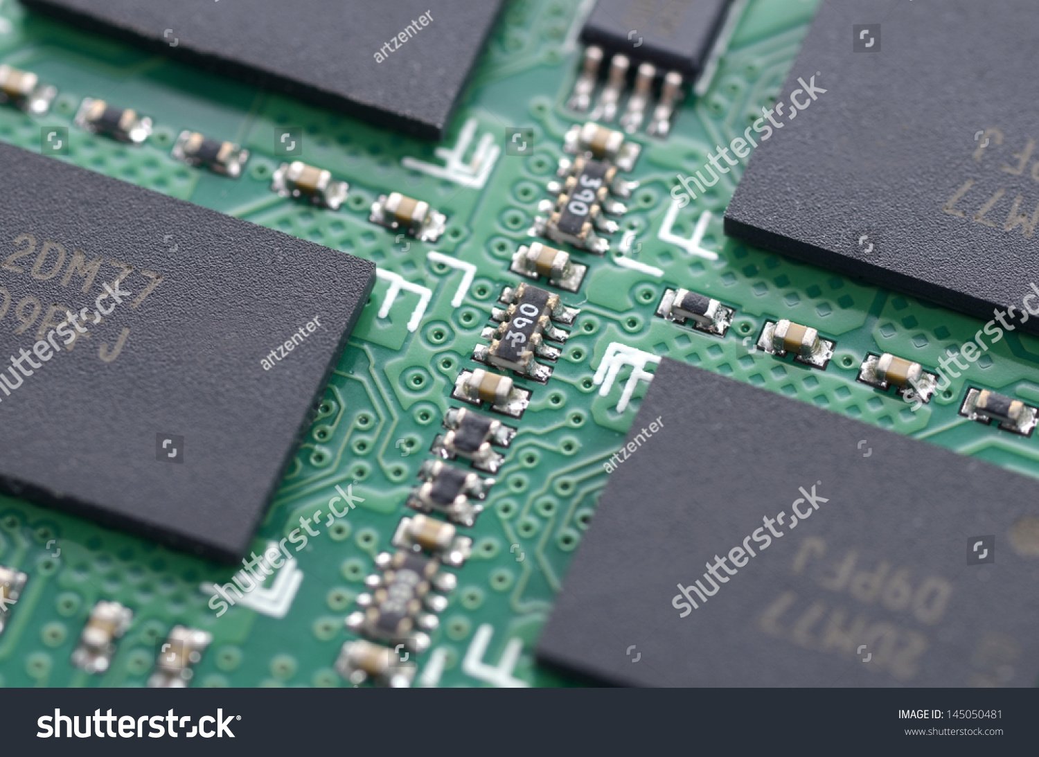 Computer Ram Memory Microchip Module Printed Stock Photo Edit Now Stockfoto Circuit Board Pcb Used In Industrial Electronic Or