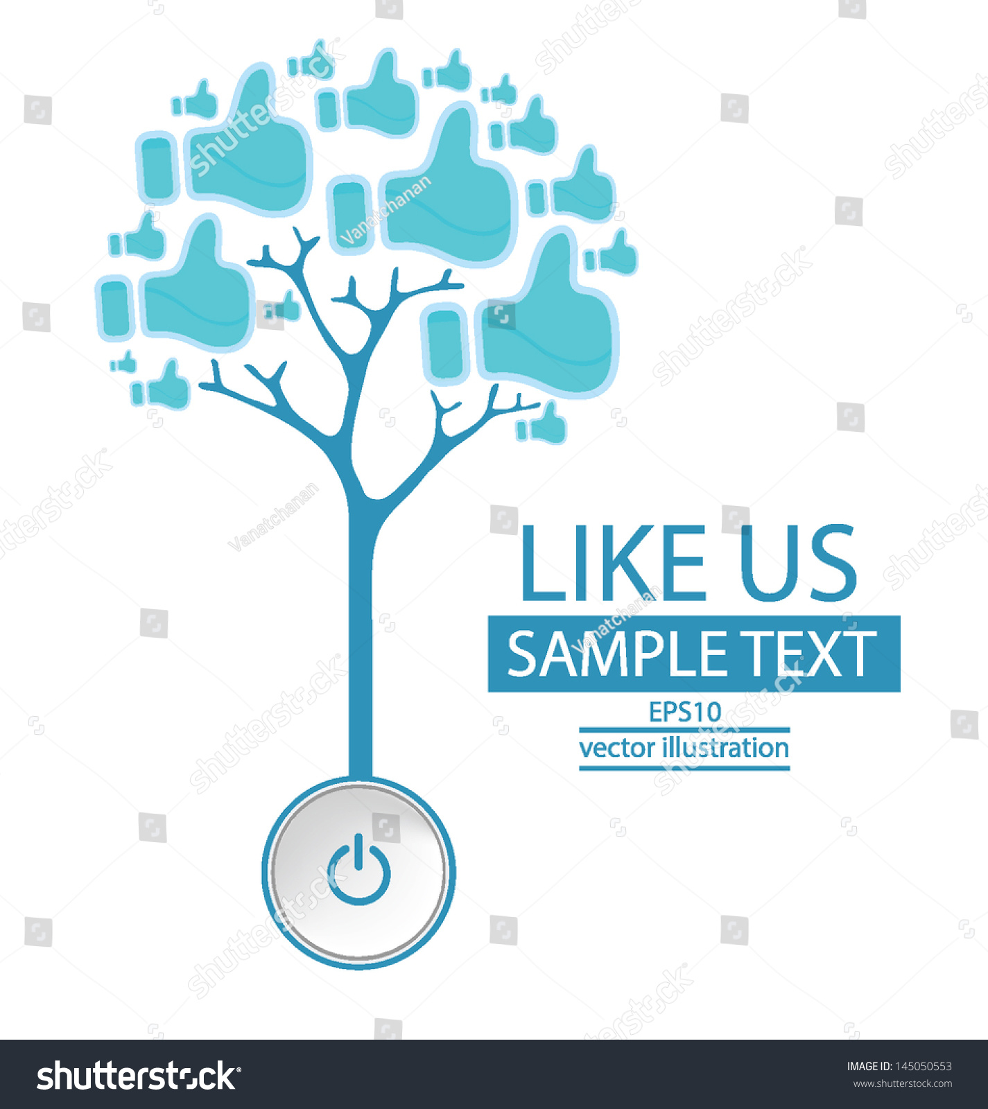 Start Like Button Tree Design Vector Stock Vector 145050553 ...