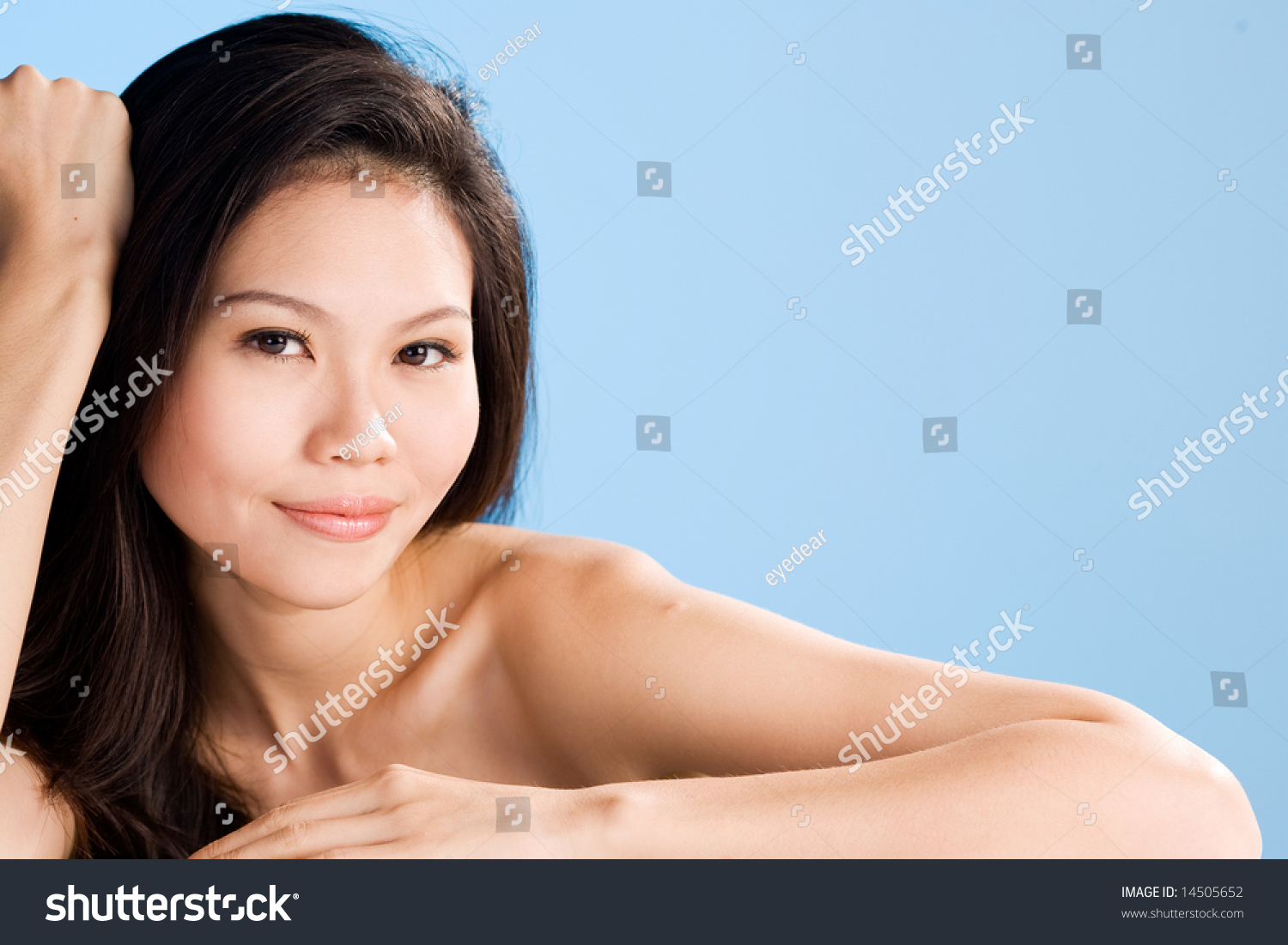 refreshing clean face asian mature woman stock photo 14505652
