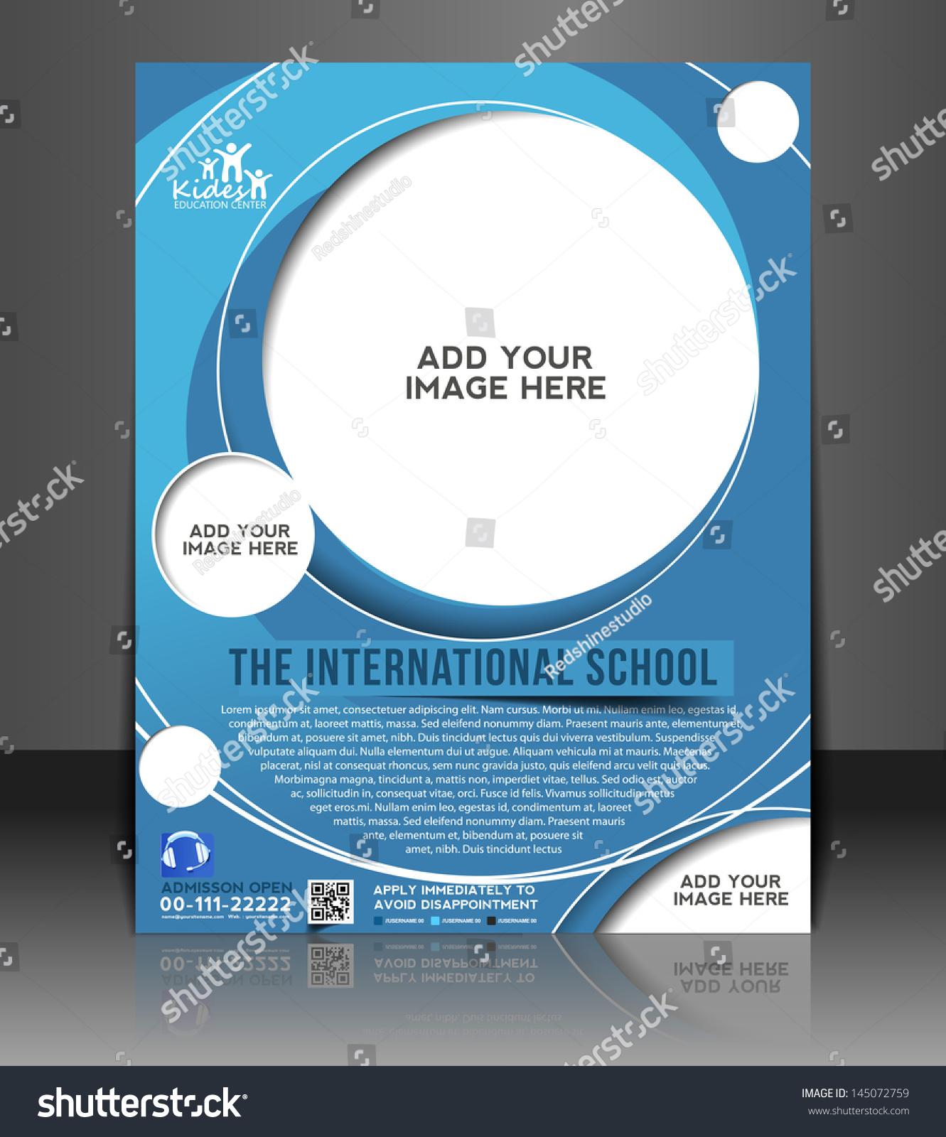 Vector Brochure Flyer Magazine: Vector Education Ceneter Brochure, Flyer, Magazine Cover