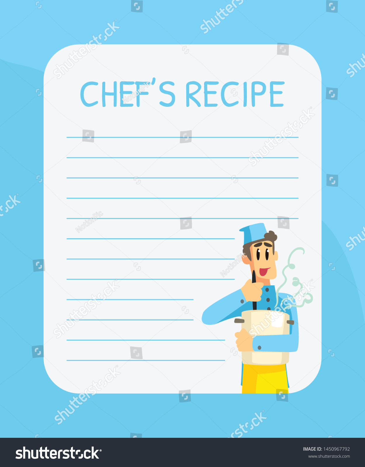 Blank Recipe Card Template from image.shutterstock.com