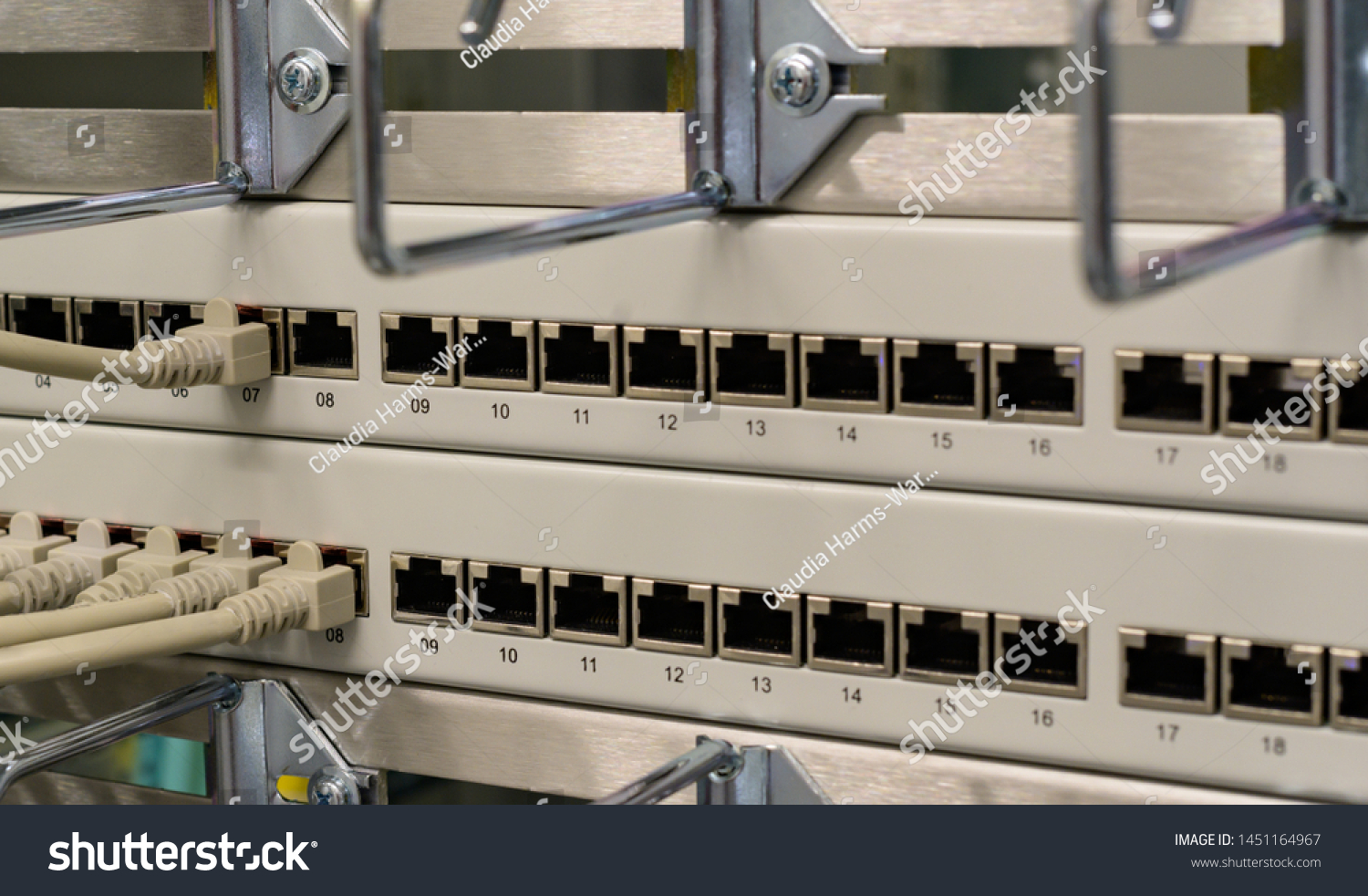 Network switch and network cable in a data center #1451164967