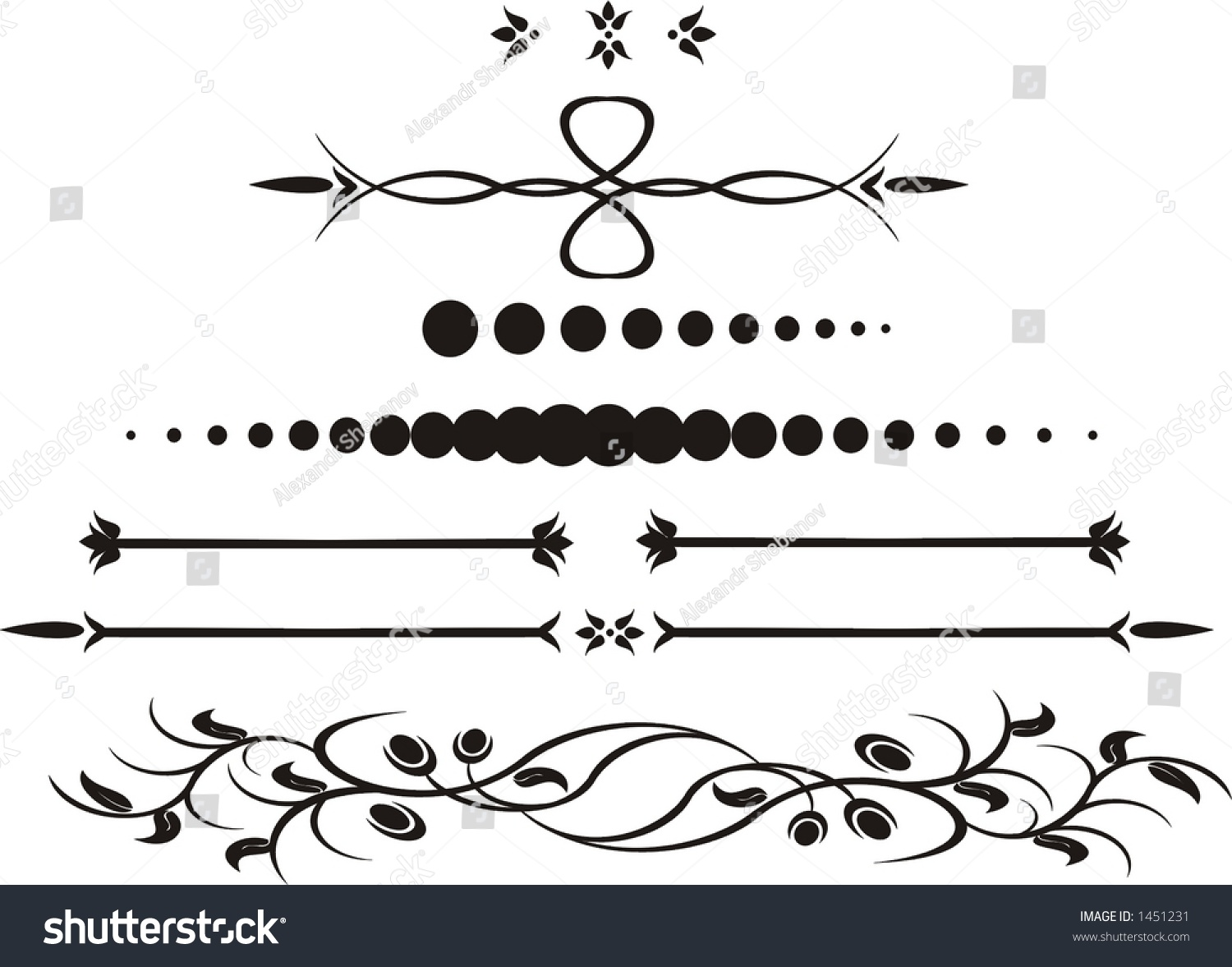 Abstract Calligraphy Stock Vector 1451231 Shutterstock