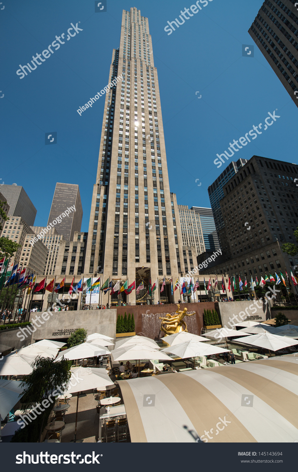 New York City Jun 15 Rockefeller Stock Photo 145143694