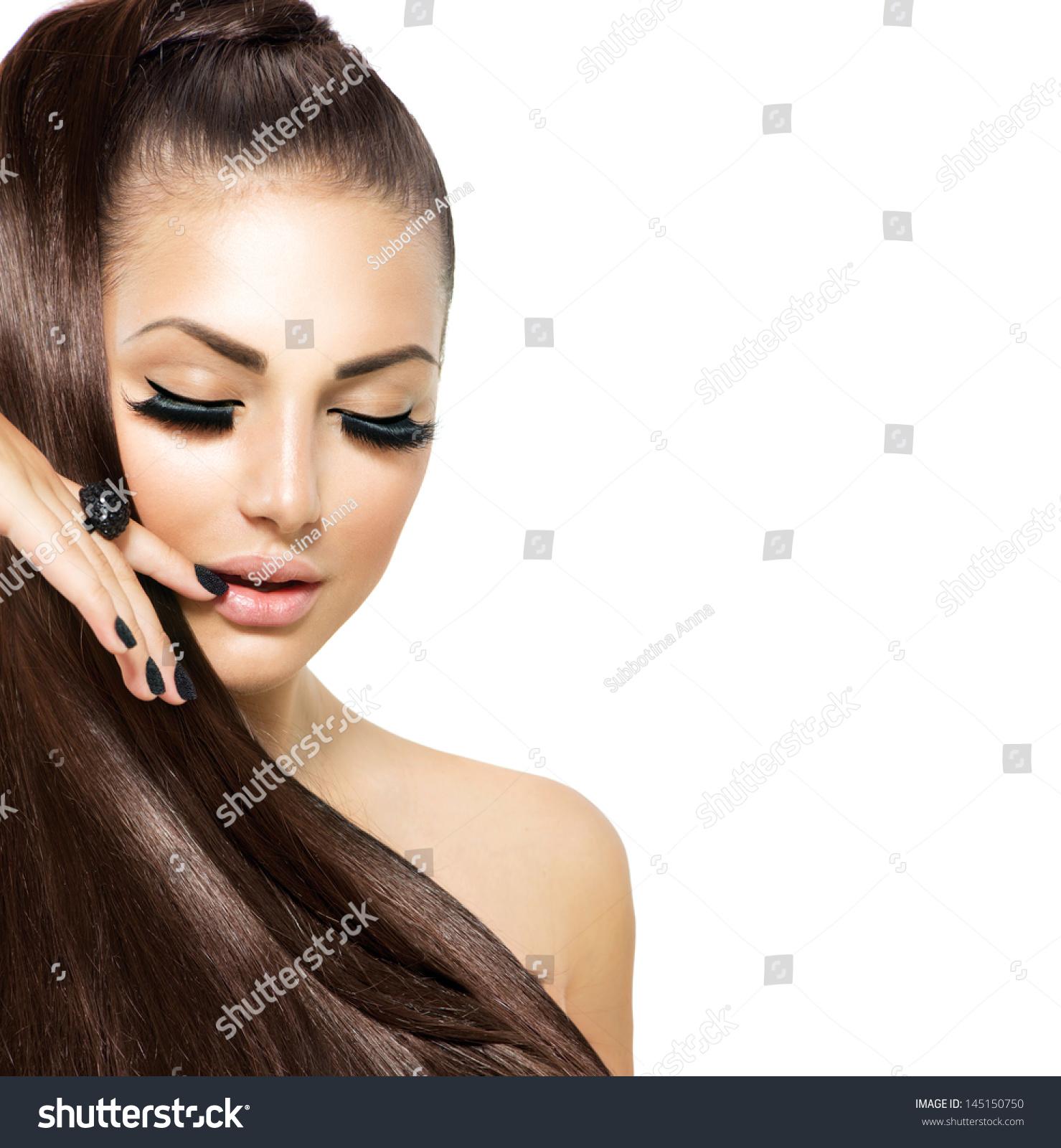 Fashion Beauty Model Girl Stock Image Image Of Manicured: Beauty Fashion Model Girl With Long Healthy Hair, Long