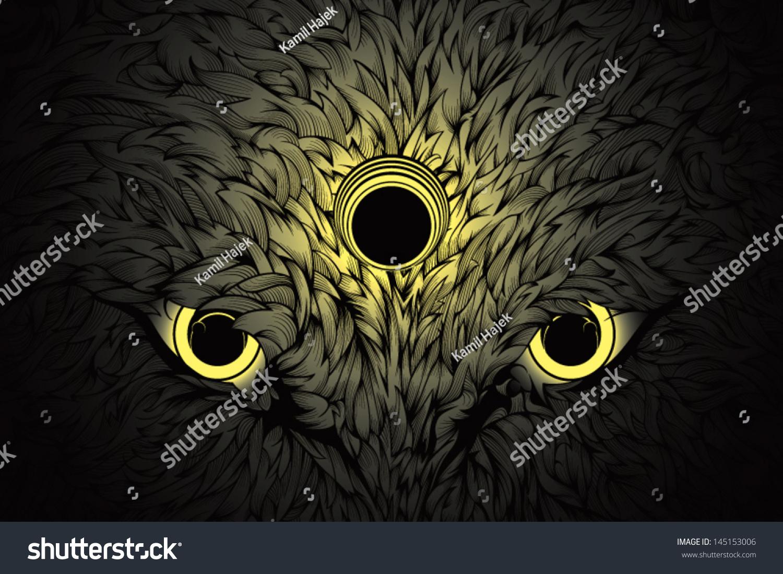 Wolf eyes in dark - photo#25